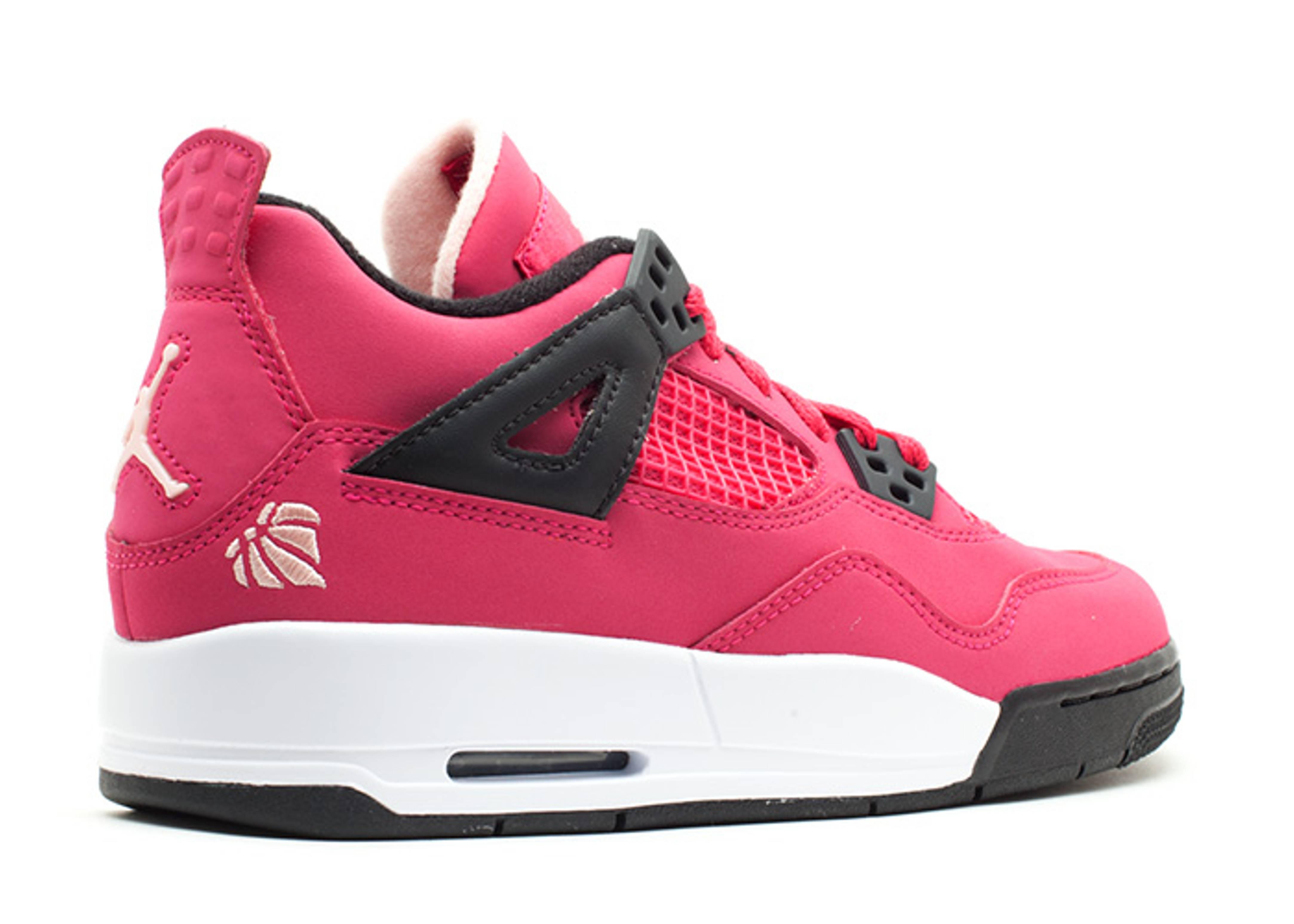 online retailer 36356 bdb96 Girls Air Jordan 4 Retro (gs) - Air Jordan - 487724 601 - voltage cherry- white-black   Flight Club