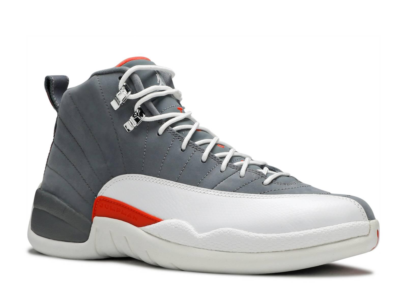detailed pictures 8217d 3f134 spain jordan 12 cool grey team orange a1786 88e1c