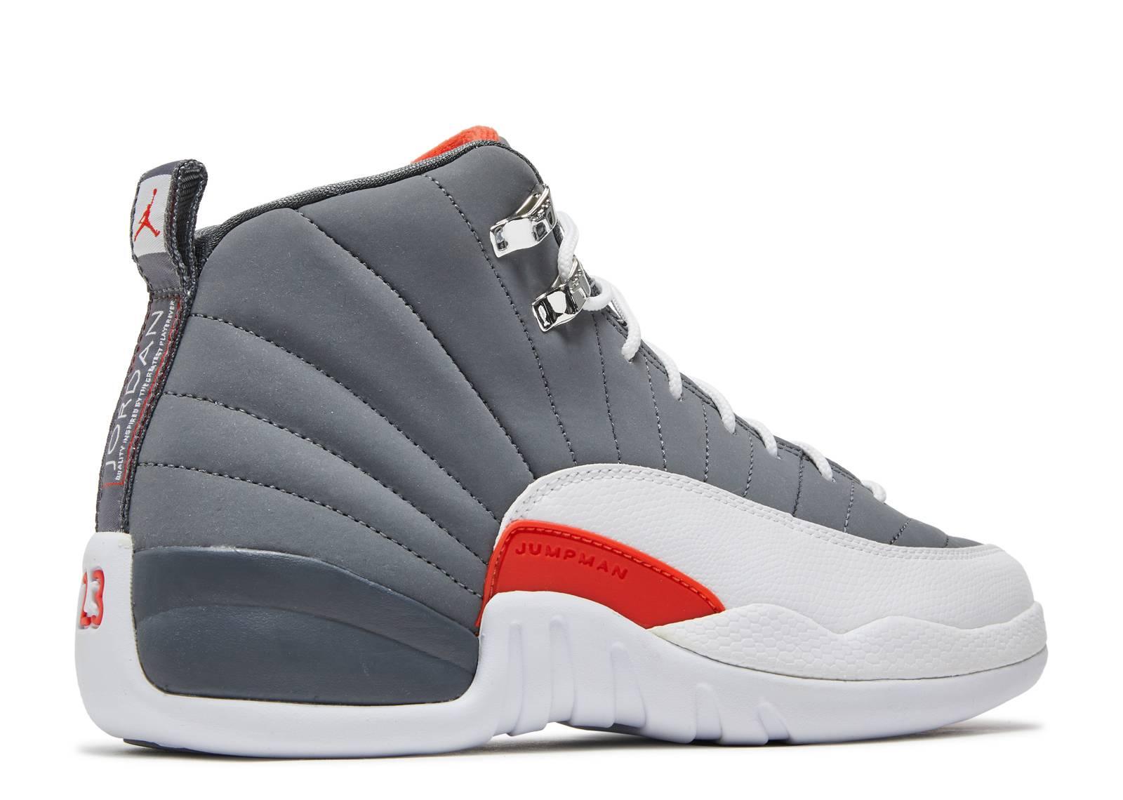 "air jordan 12 retro (gs) ""cool grey"" - cool grey/white ..."