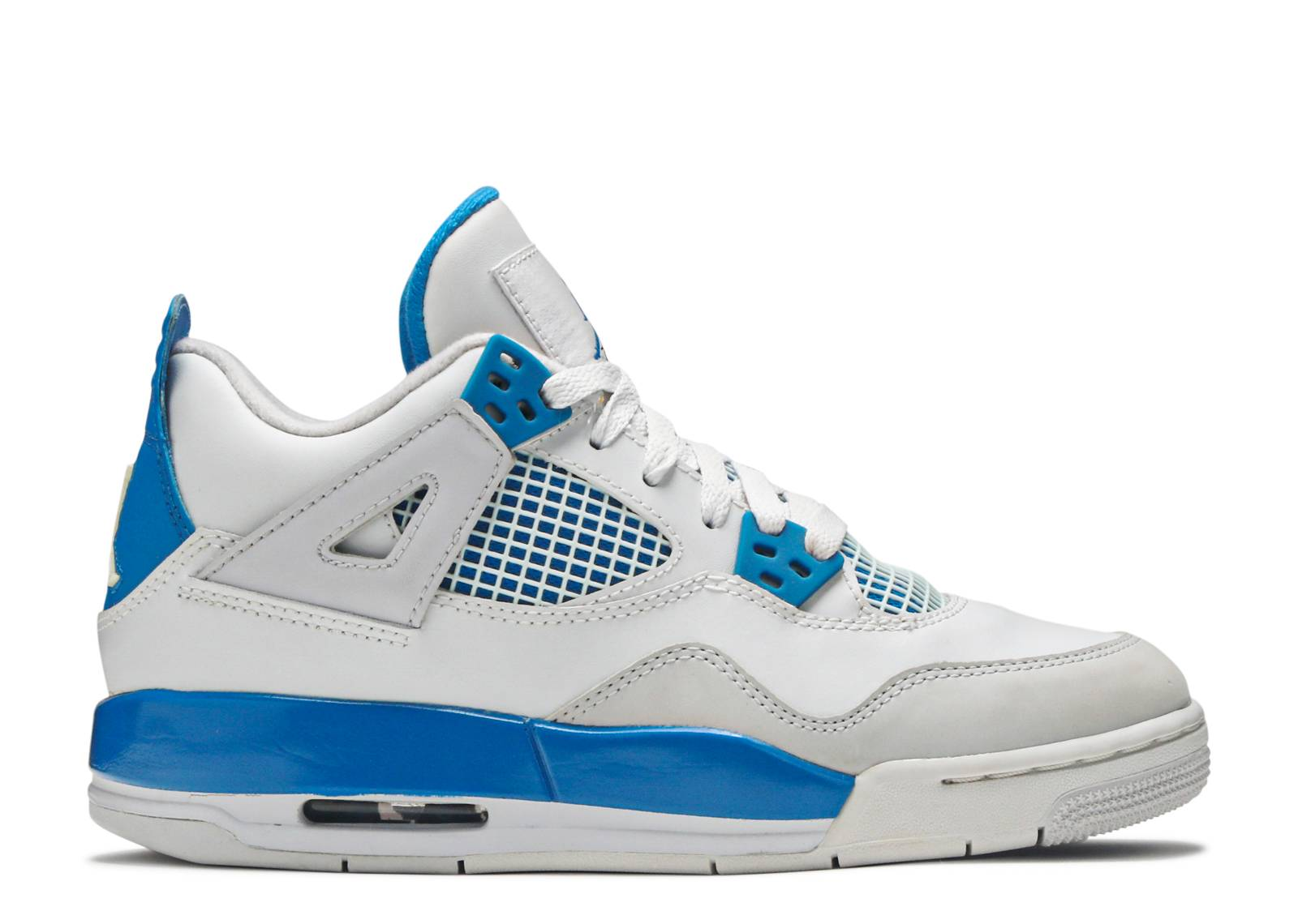 White/Military Blue-Ntrl Grey - Men Air Jordan 4 Retro - D7n6110