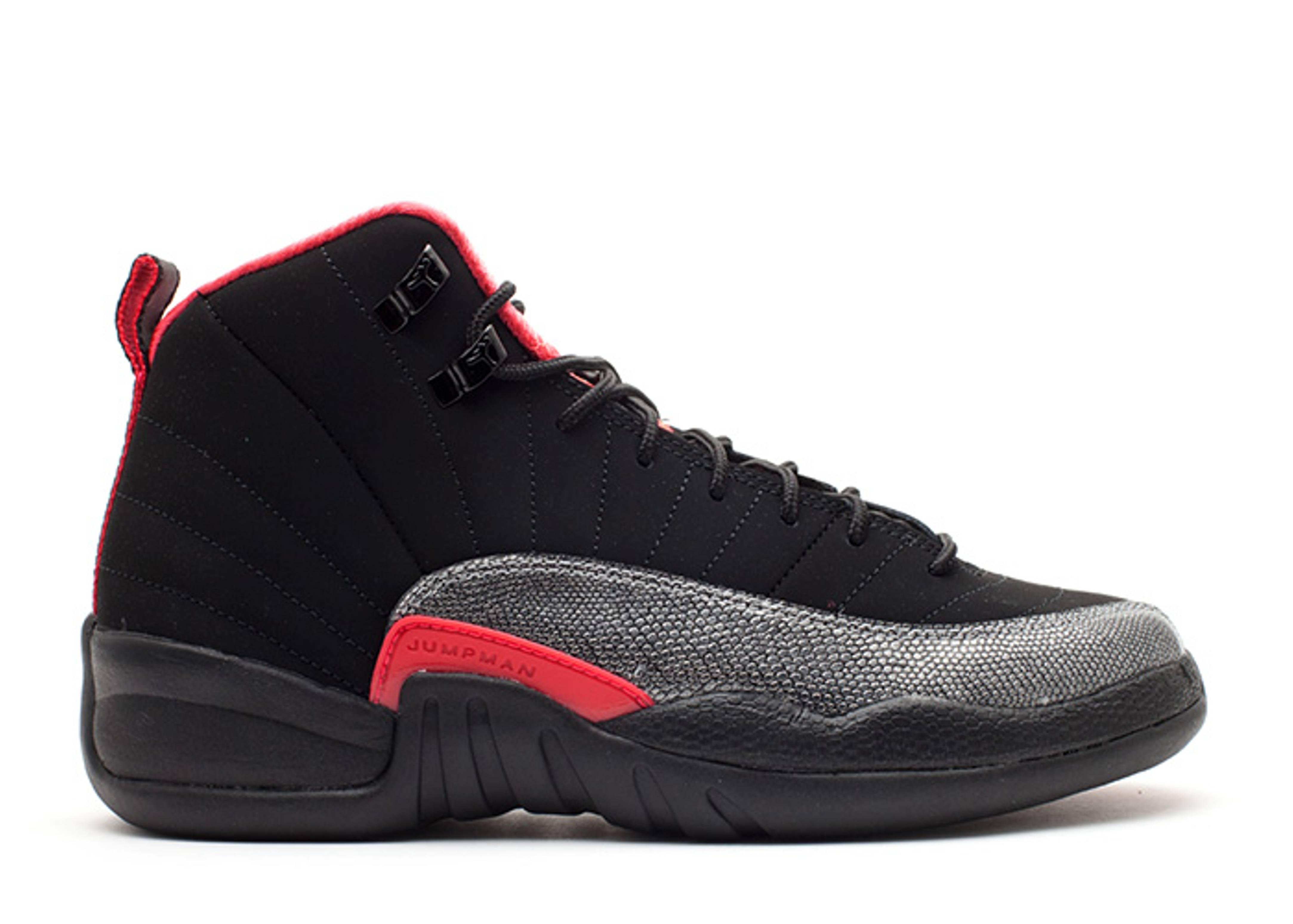 jordan black and red 12 girls Nike ...