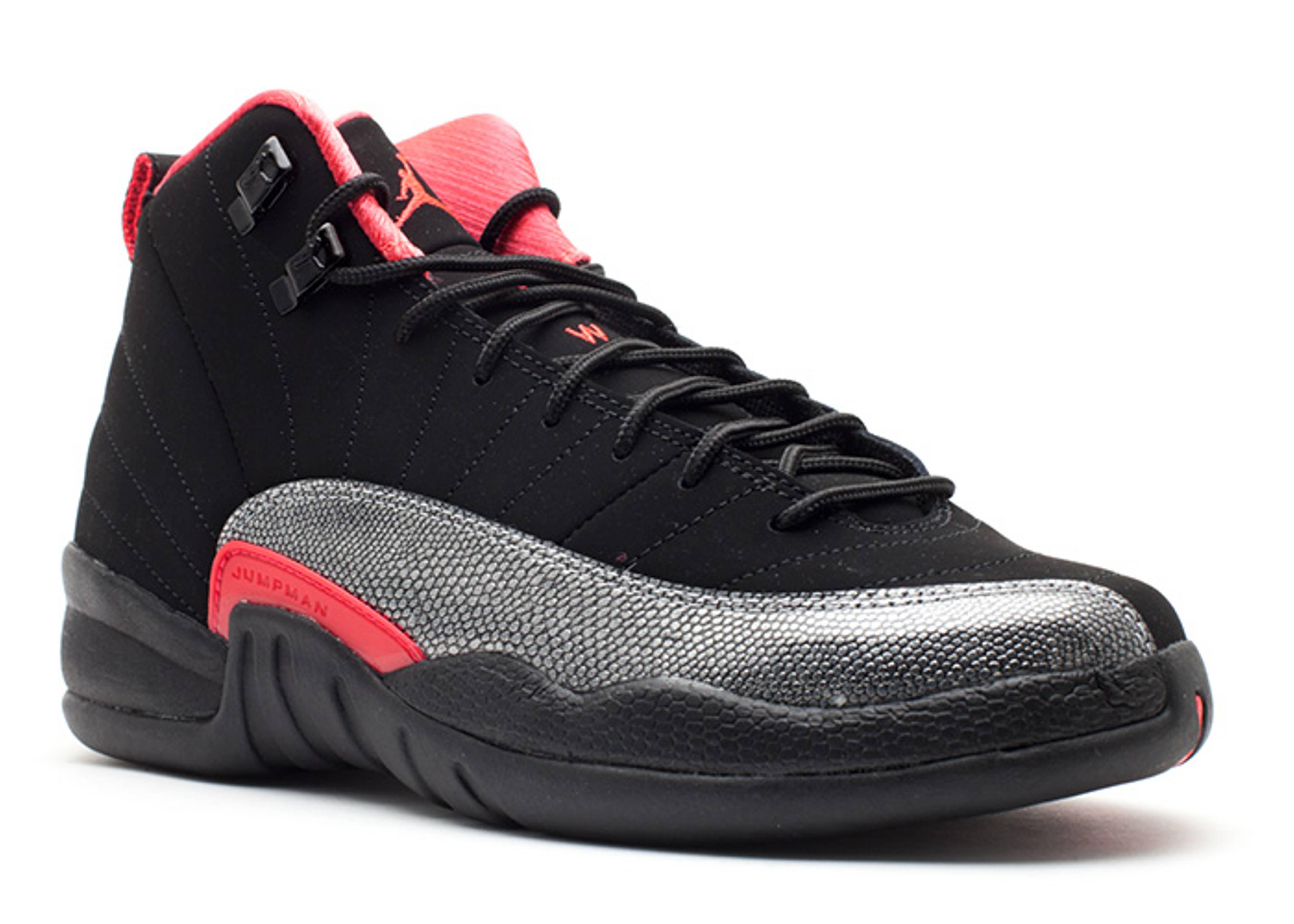 Girls Air Jordan 12 Retro (gs) - Air Jordan - 510815 008 - black siren red   a2810ae5c