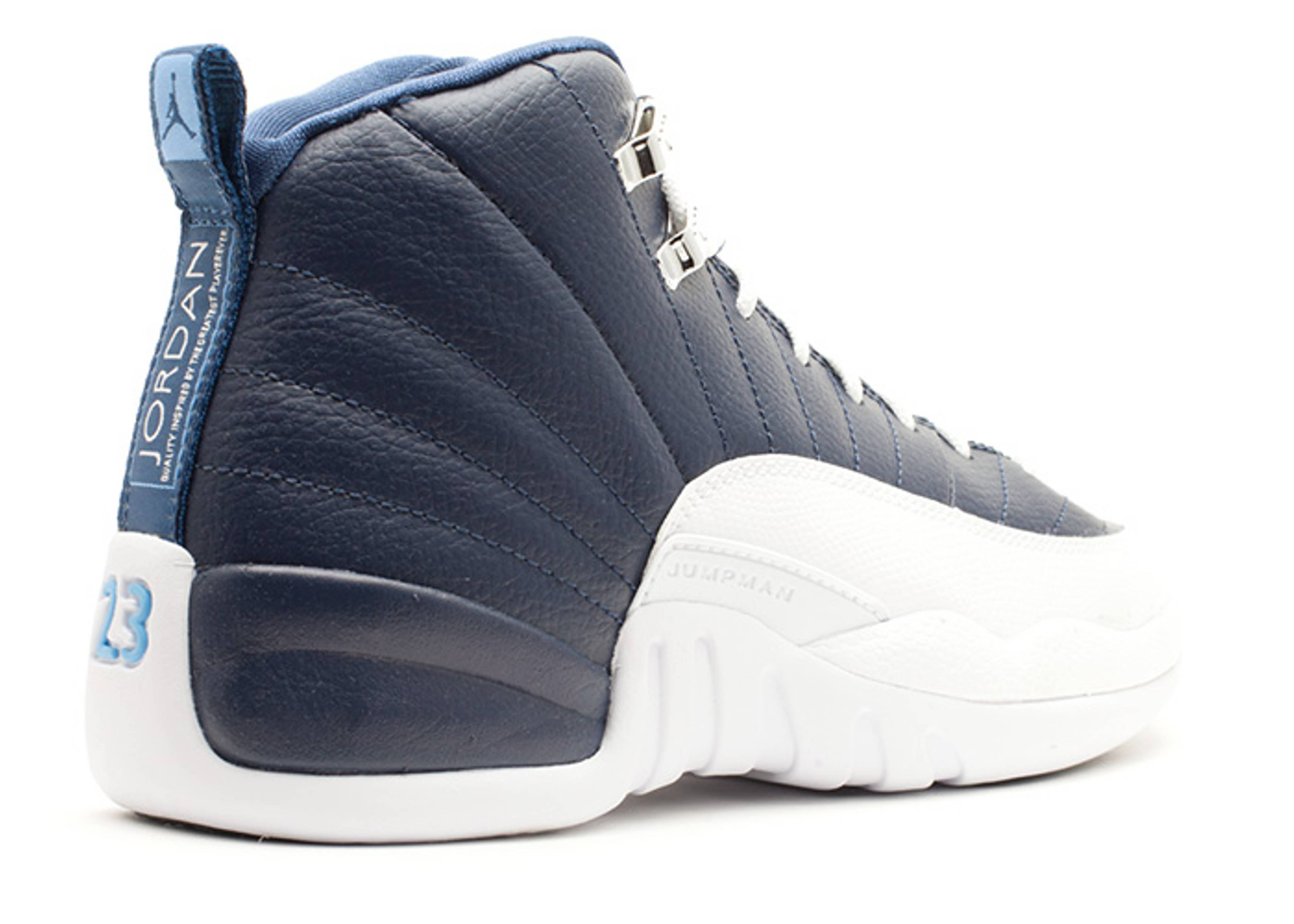 air jordan retro 12 white blue