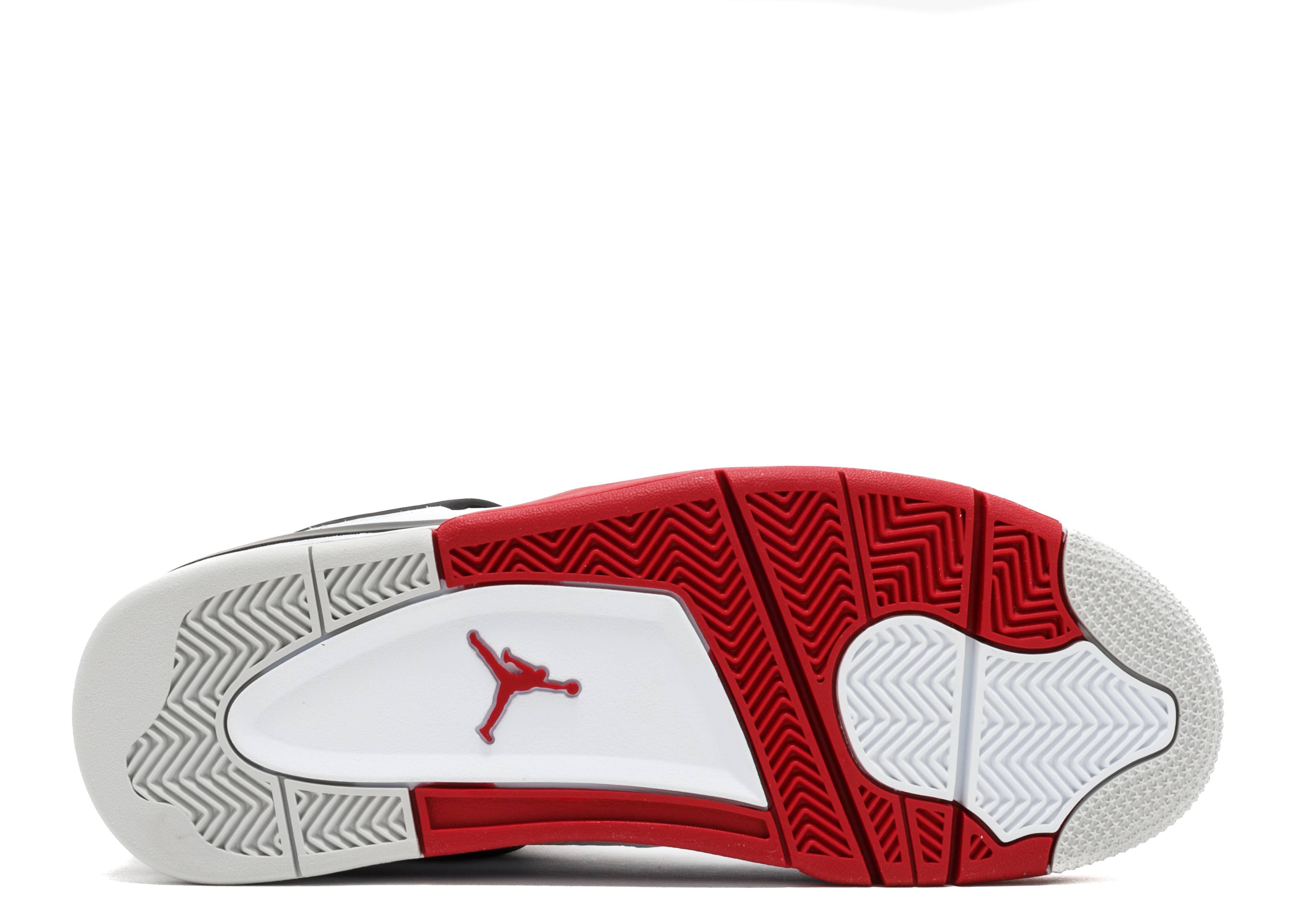air jordan 4 retro white red