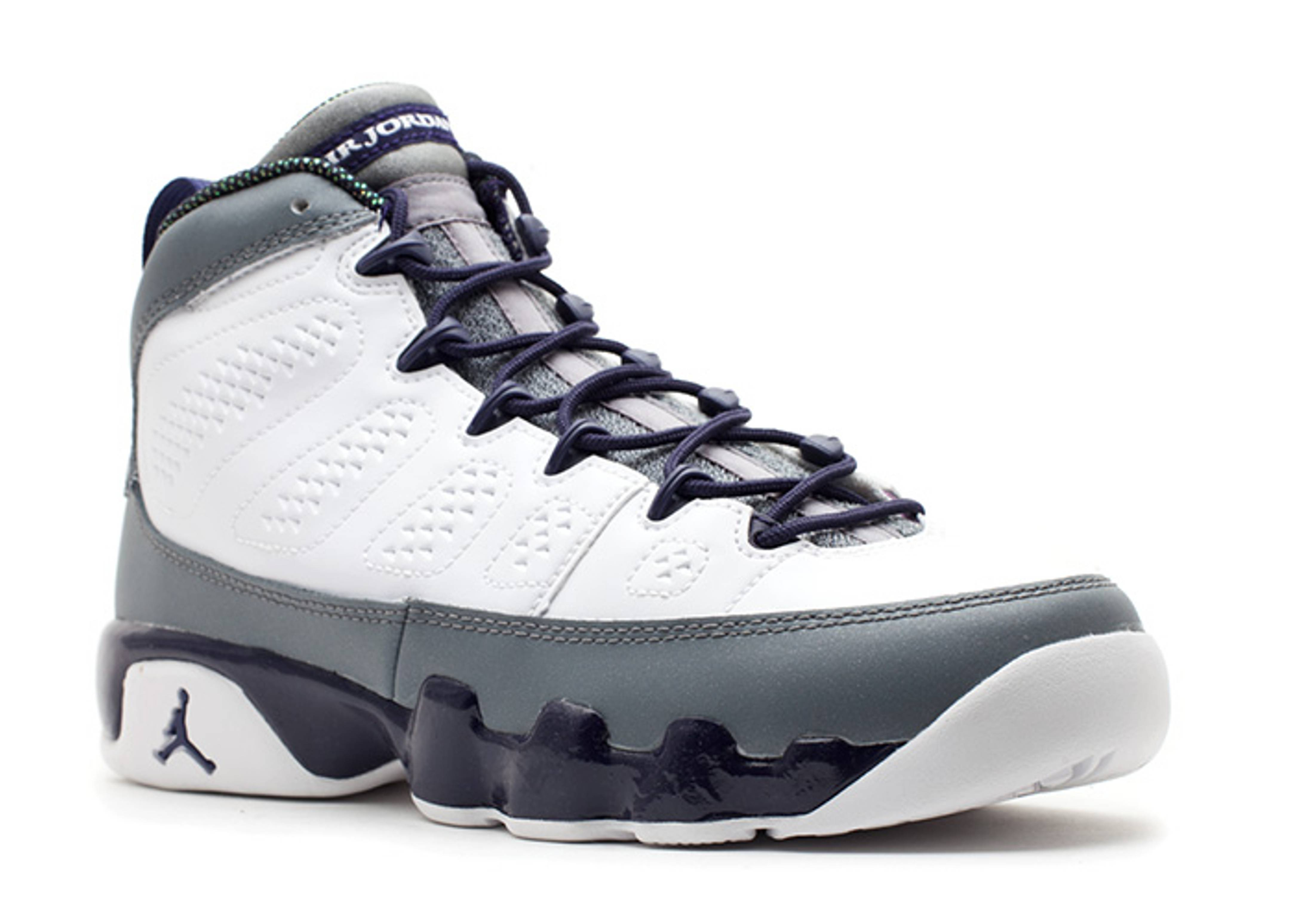 fcb886f01f1 Girls Air Jordan 9 Retro (gs) - Air Jordan - 537736 109 - white/imperial  purple-cl grey | Flight Club
