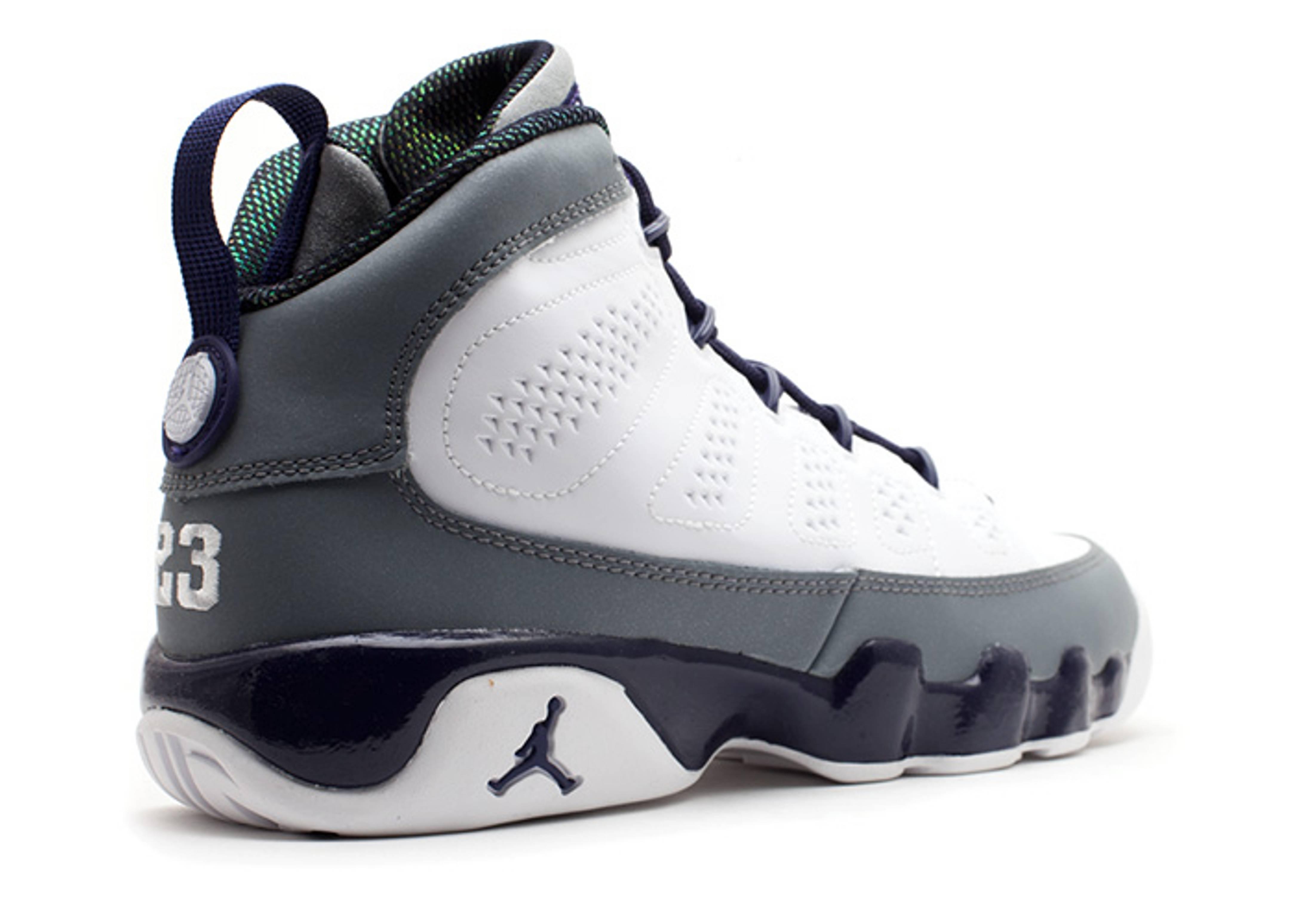 ede2e86a617b71 Girls Air Jordan 9 Retro (gs) - Air Jordan - 537736 109 - white imperial  purple-cl grey