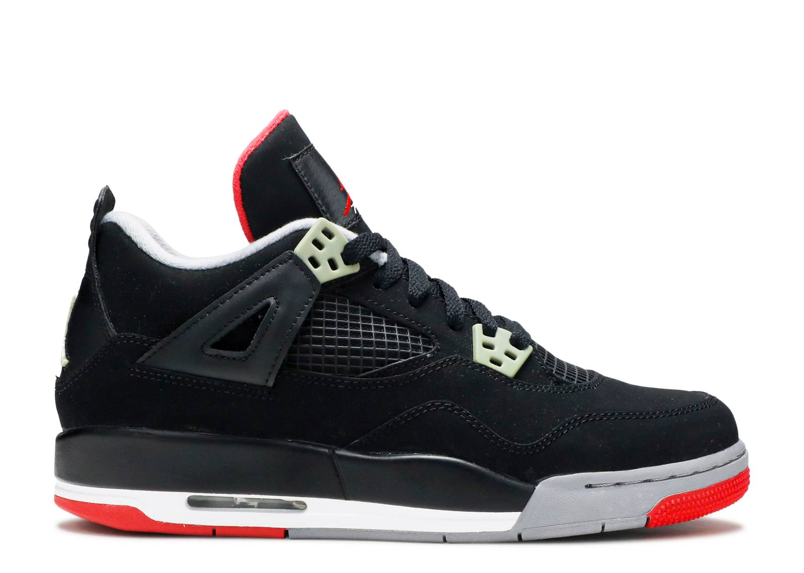 nike air jordan 4 retro gsblack fire red