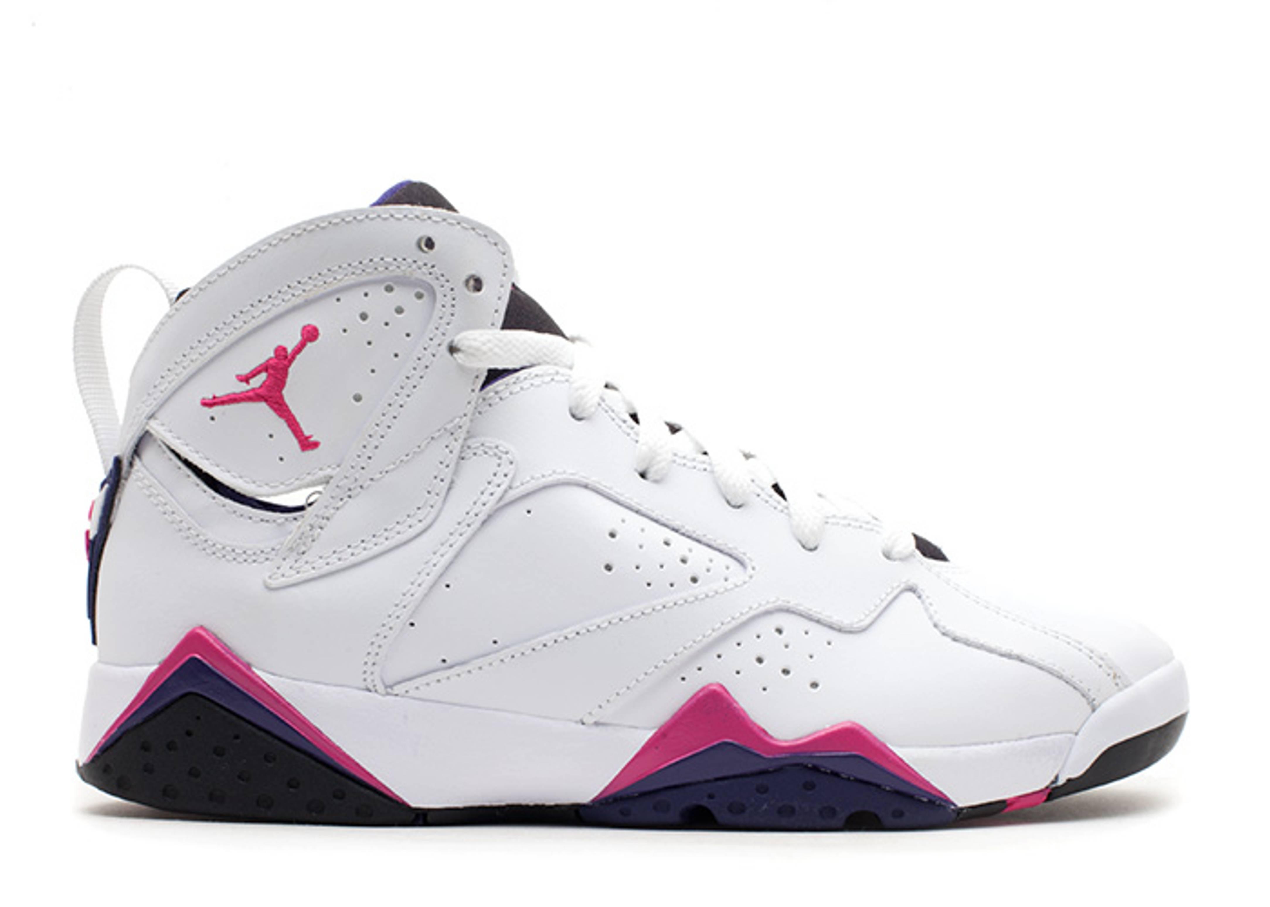 f66b2ae6493104 Girls Air Jordan 7 Retro (gs) - Air Jordan - 442960 117 - white fireberry- black-night bl