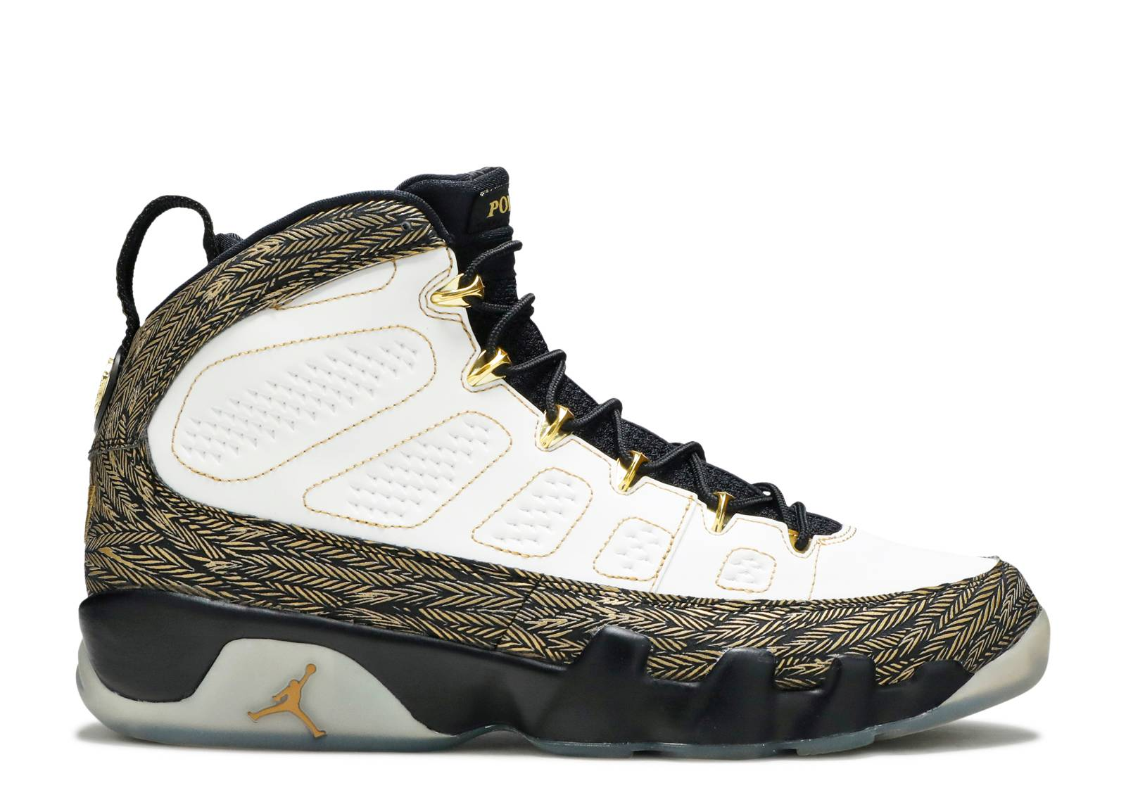 Air Jordan 9 Retro Doernbecher White Metallic Gold Black Shoes