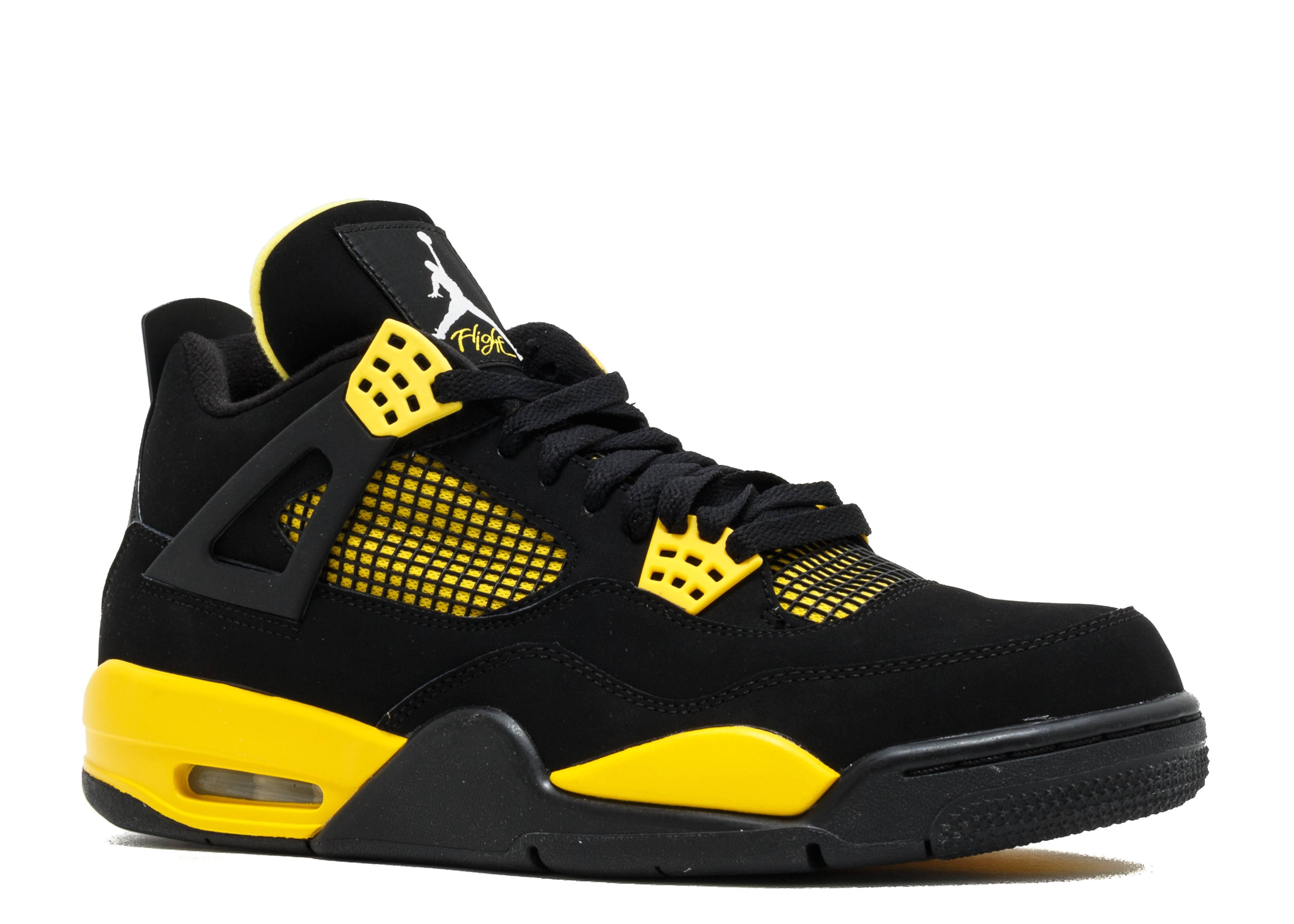 jordan retro 4 yellow and black