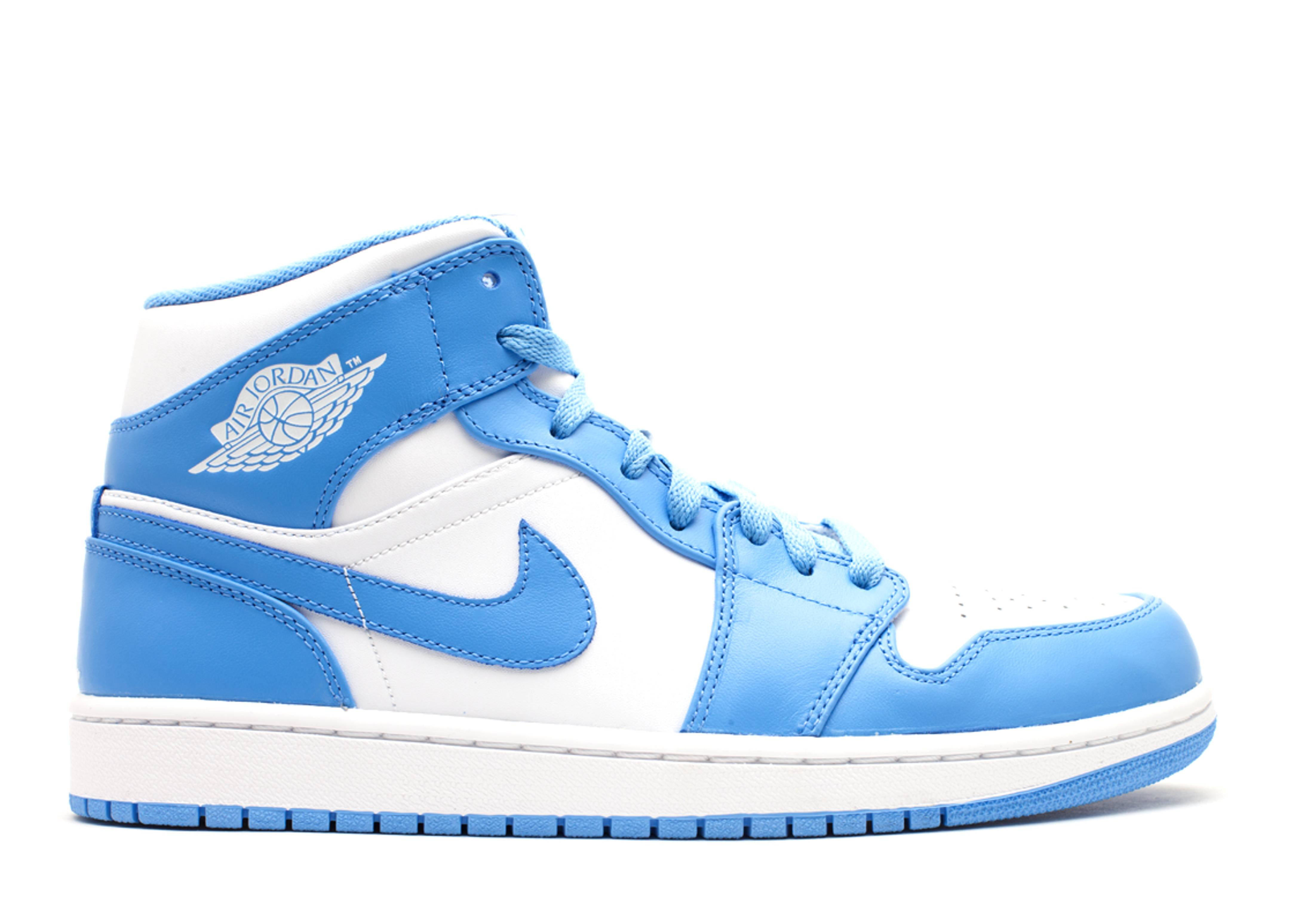 nike air jordan 1 mid white university blue