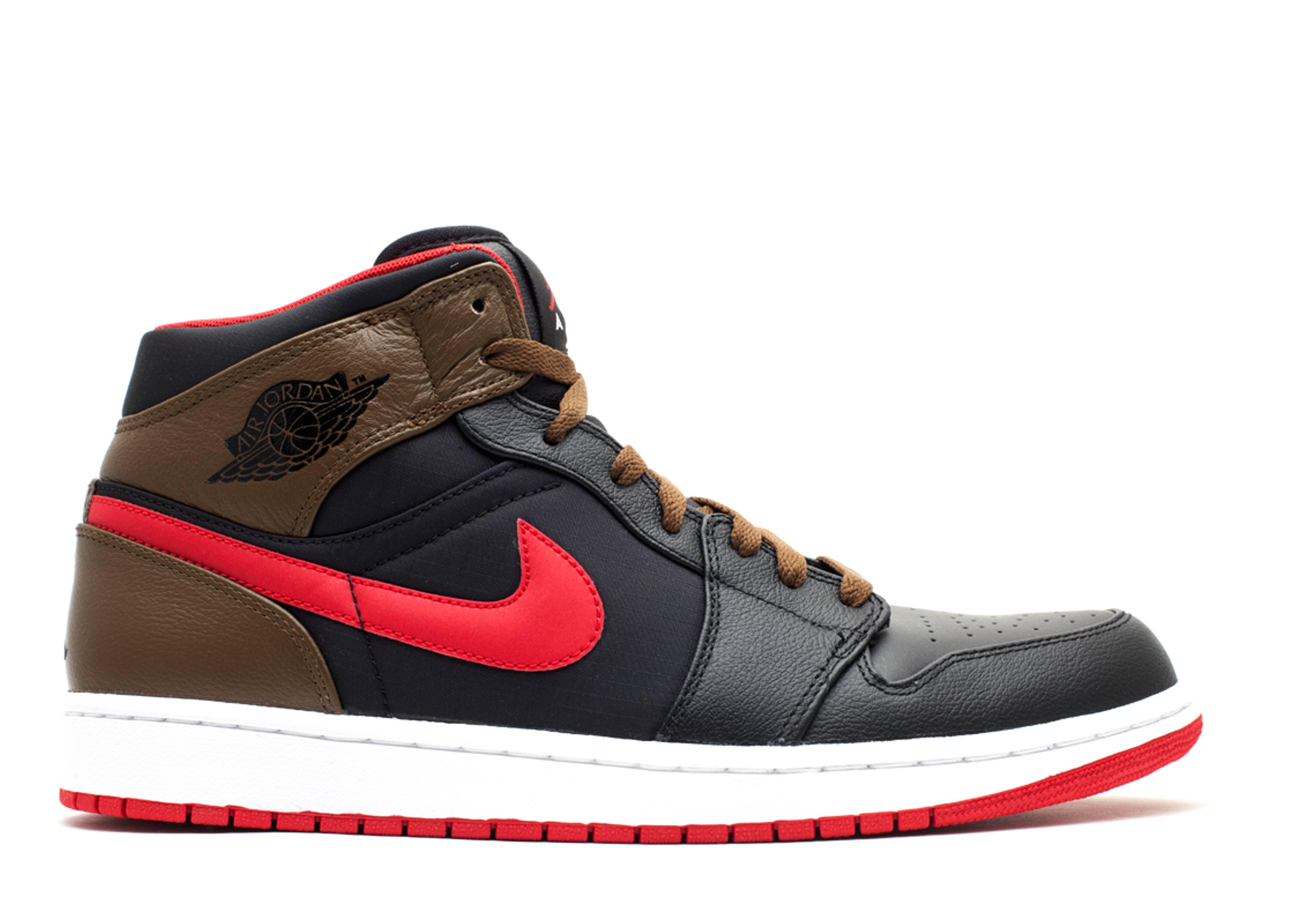 32504493342 Air Jordan 1 Phat - Air Jordan - 364770 040 - black gym red-lght olive-white