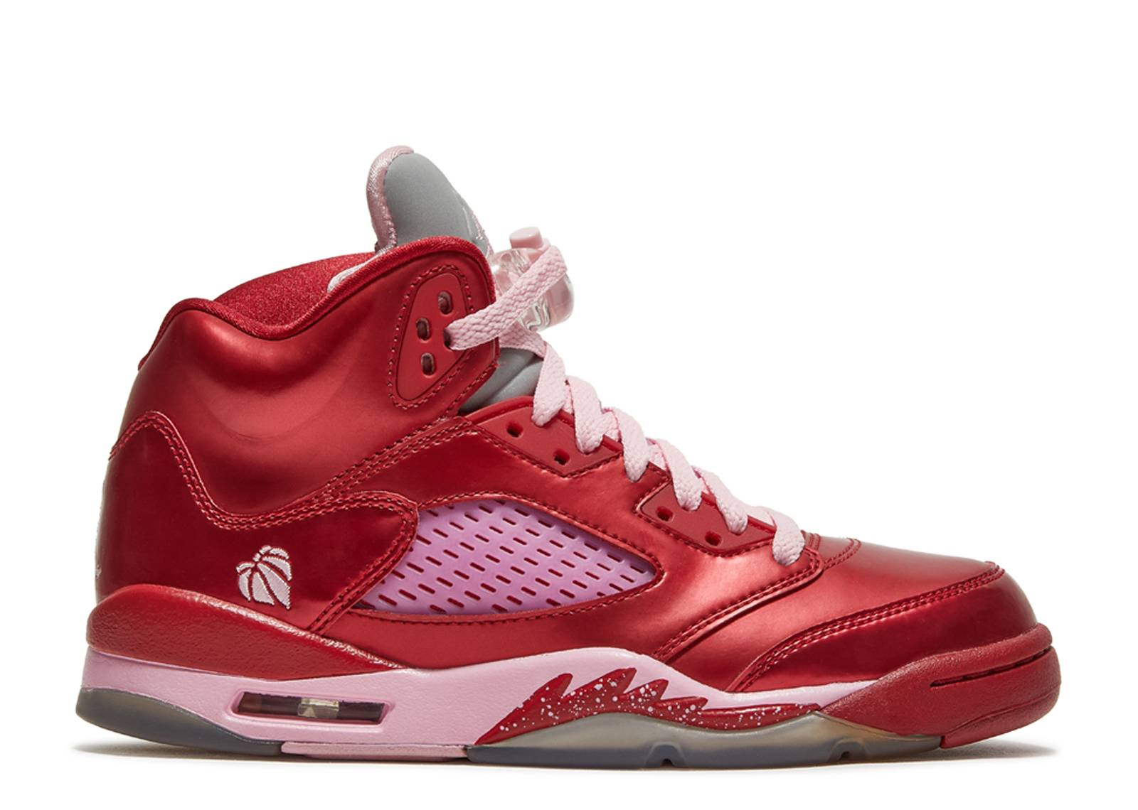 girls air jordan 5 retro (gs) gym red/ion pink