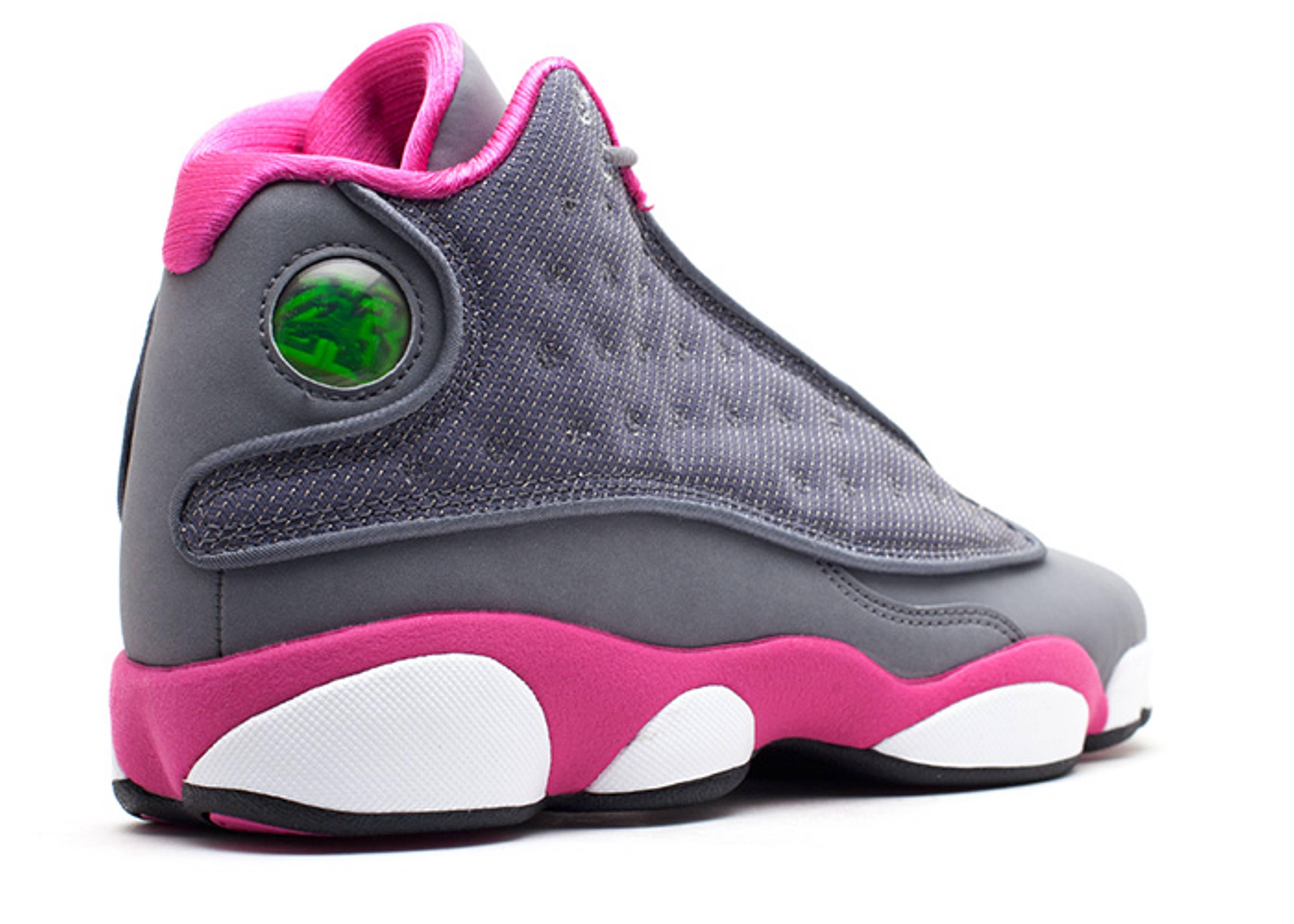 ... clearance girls air jordan 13 gg air jordan 439358 029 cool grey fusion  pink white flight ... a6568f335cda