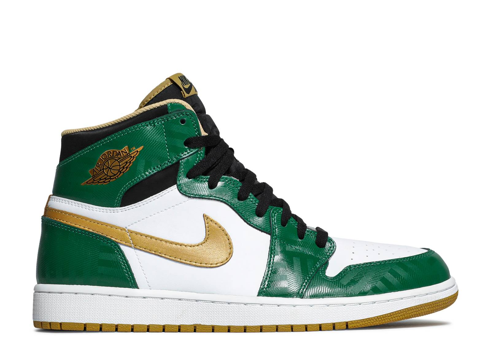 new photos closer at exquisite design Air Jordan 1 Retro High OG 'Celtics'