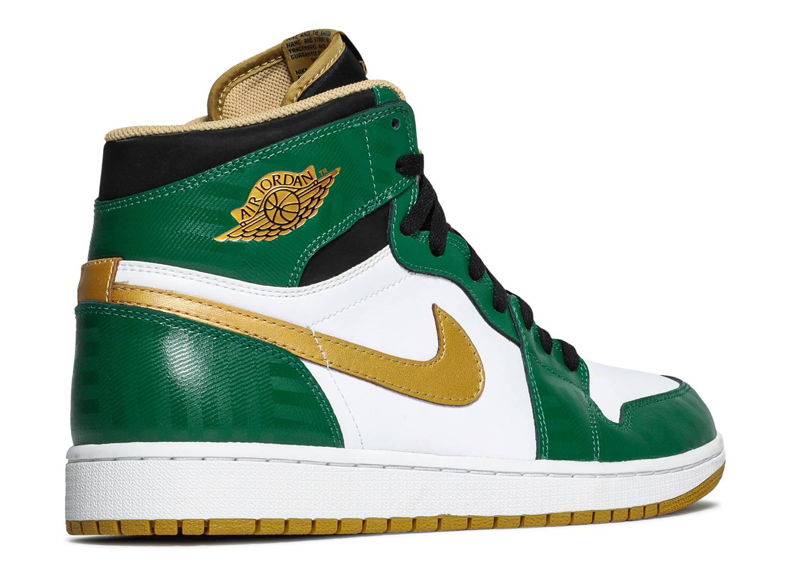 new style 8076b b1ca2 air jordan retro 1 green gold