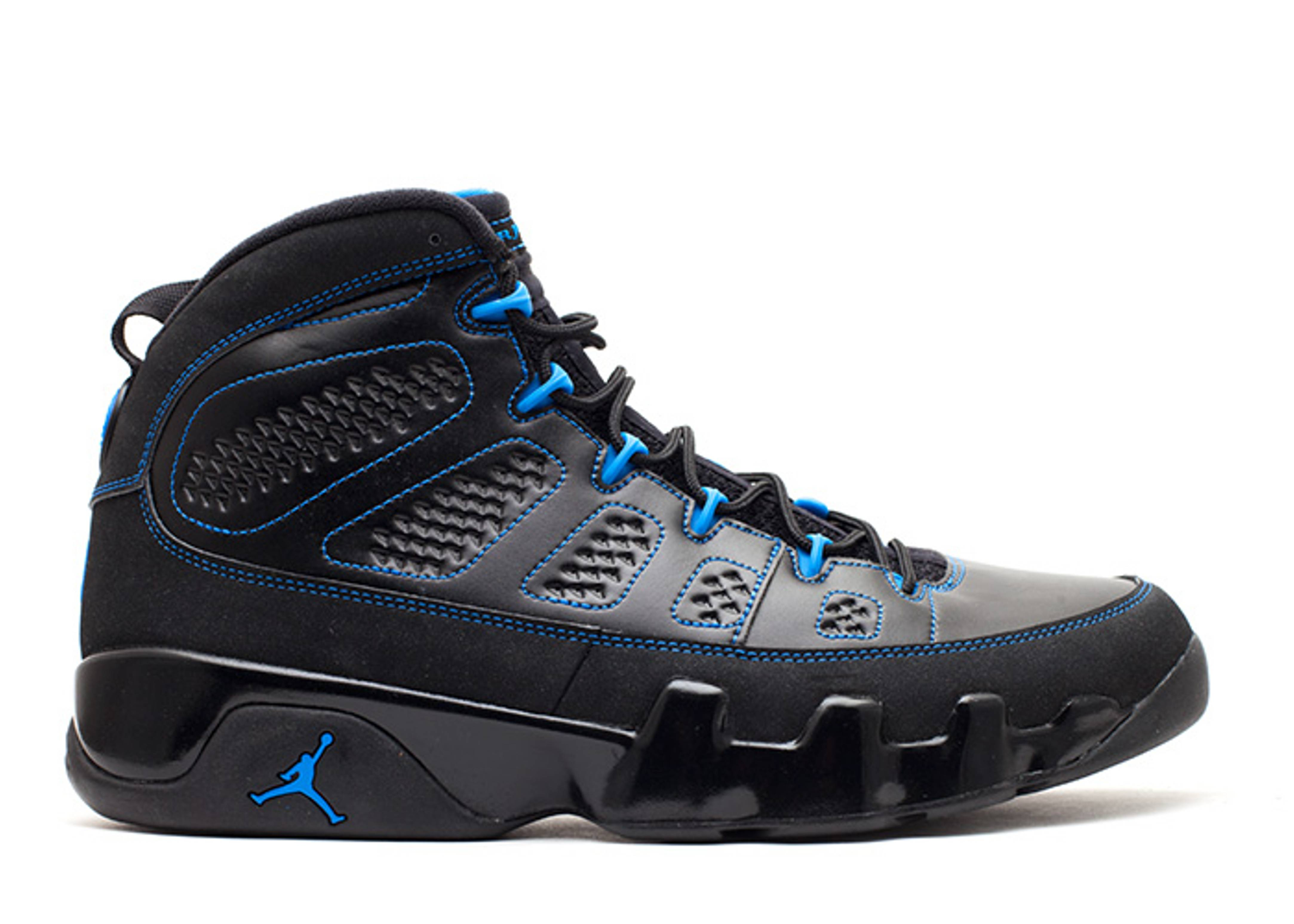 "air jordan 9 retro ""black bottom photo blue"""