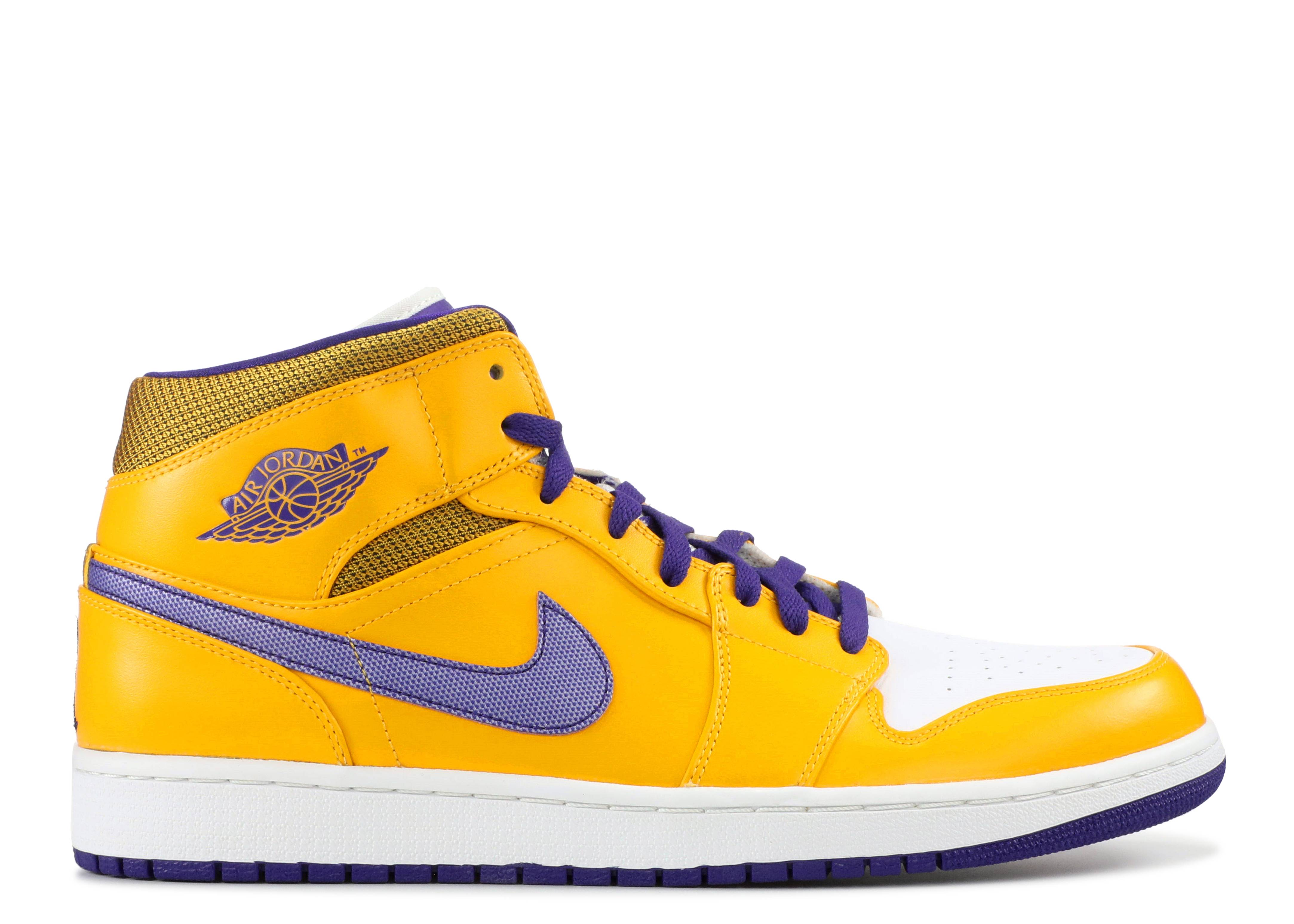 "air jordan 1 mid ""lakers"""