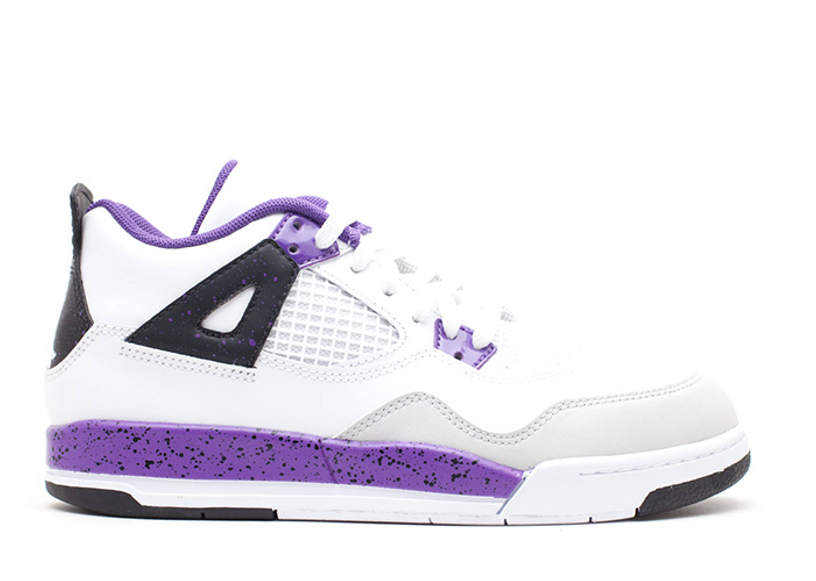 20390a7e00d Girls Jordan 4 Retro Ps - Air Jordan - 487725 108 - white/white-ultraviolet-neutral  grey | Flight Club