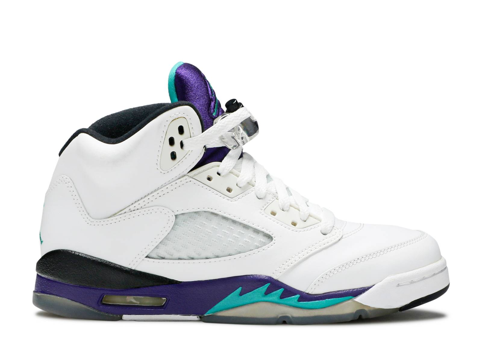 air jordan 5 retro gs grape 2013 release air jordan 440888 108 white new emerald grp. Black Bedroom Furniture Sets. Home Design Ideas