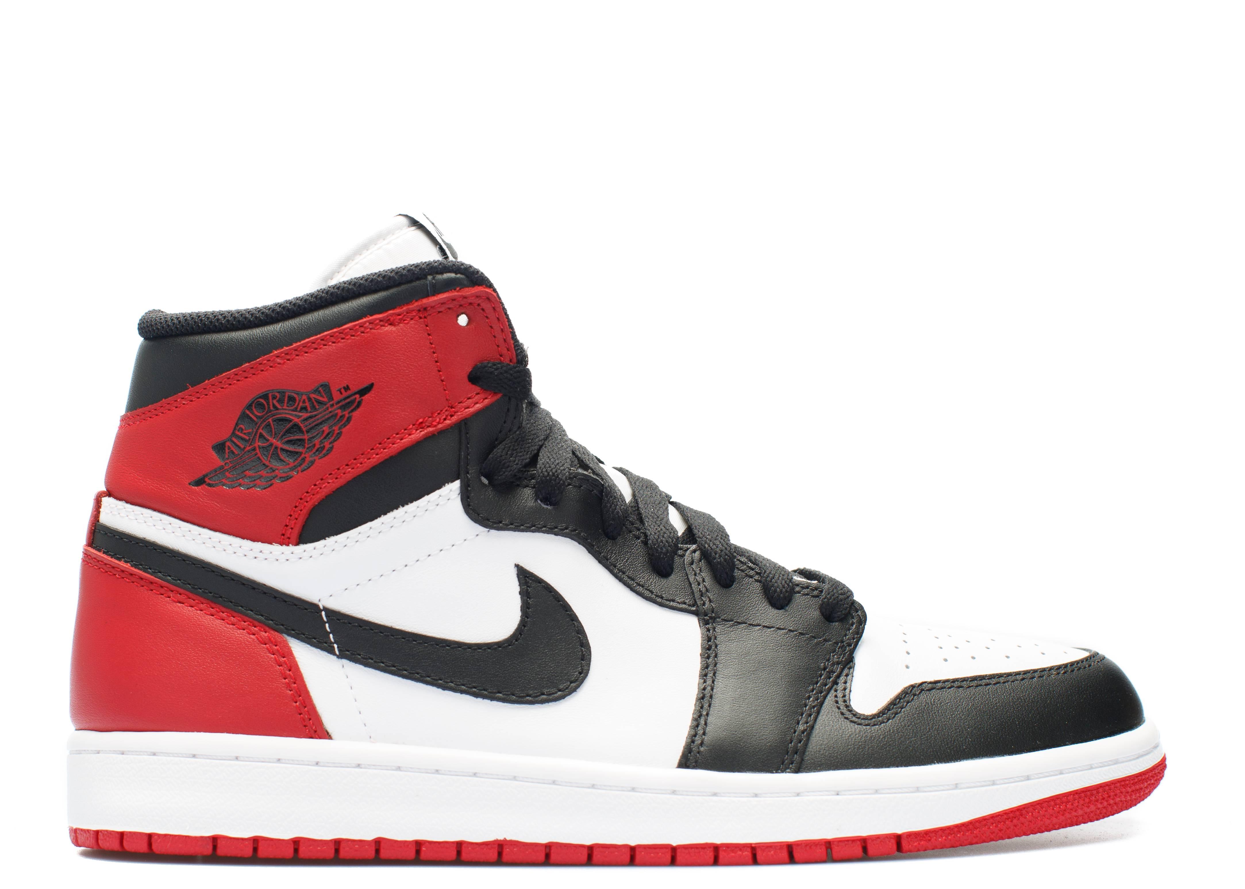 "air jordan retro 1 high og ""black toe"""