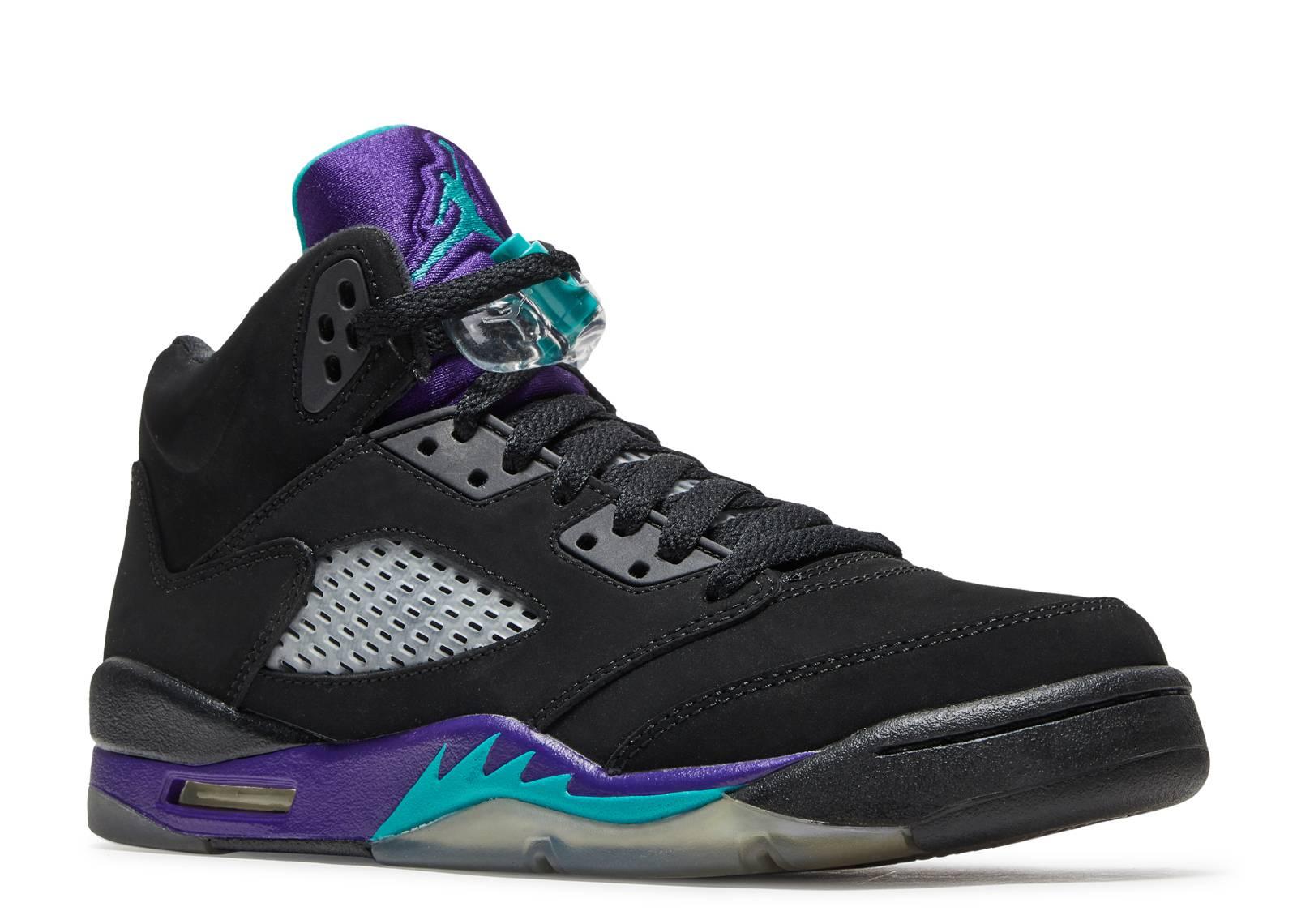 Nike Air Jordan 5 Retro Black Grape Trainer Size 6.5 UK