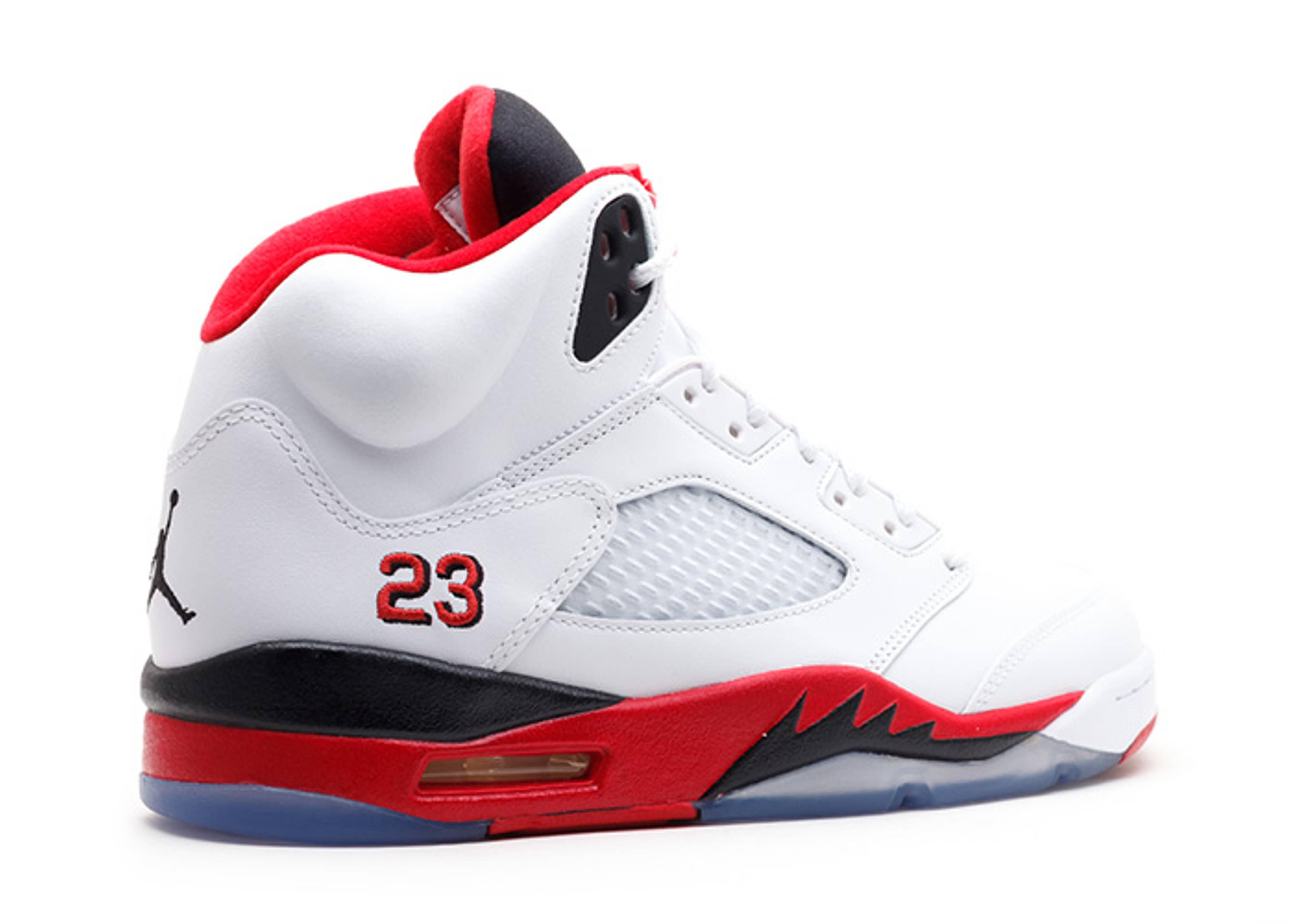 the gallery for gt jordan 5 fire red black tongue