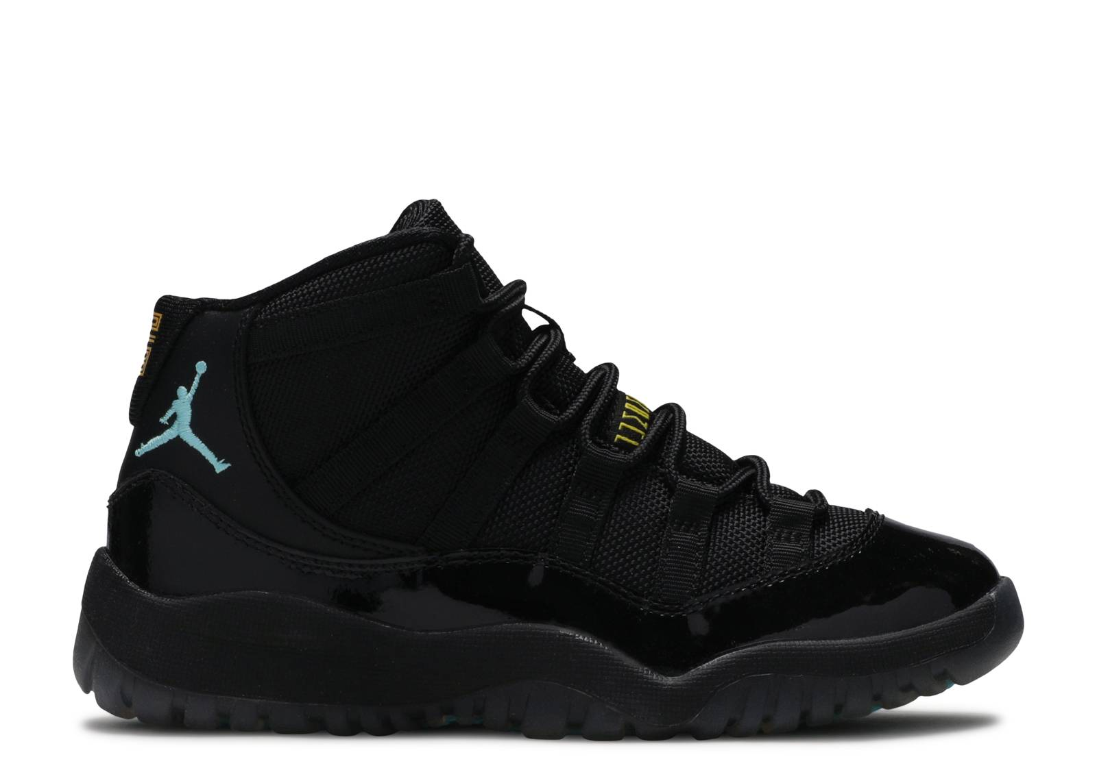 air jordan 11 retro / black/gamma blue-blck-vrsty mza