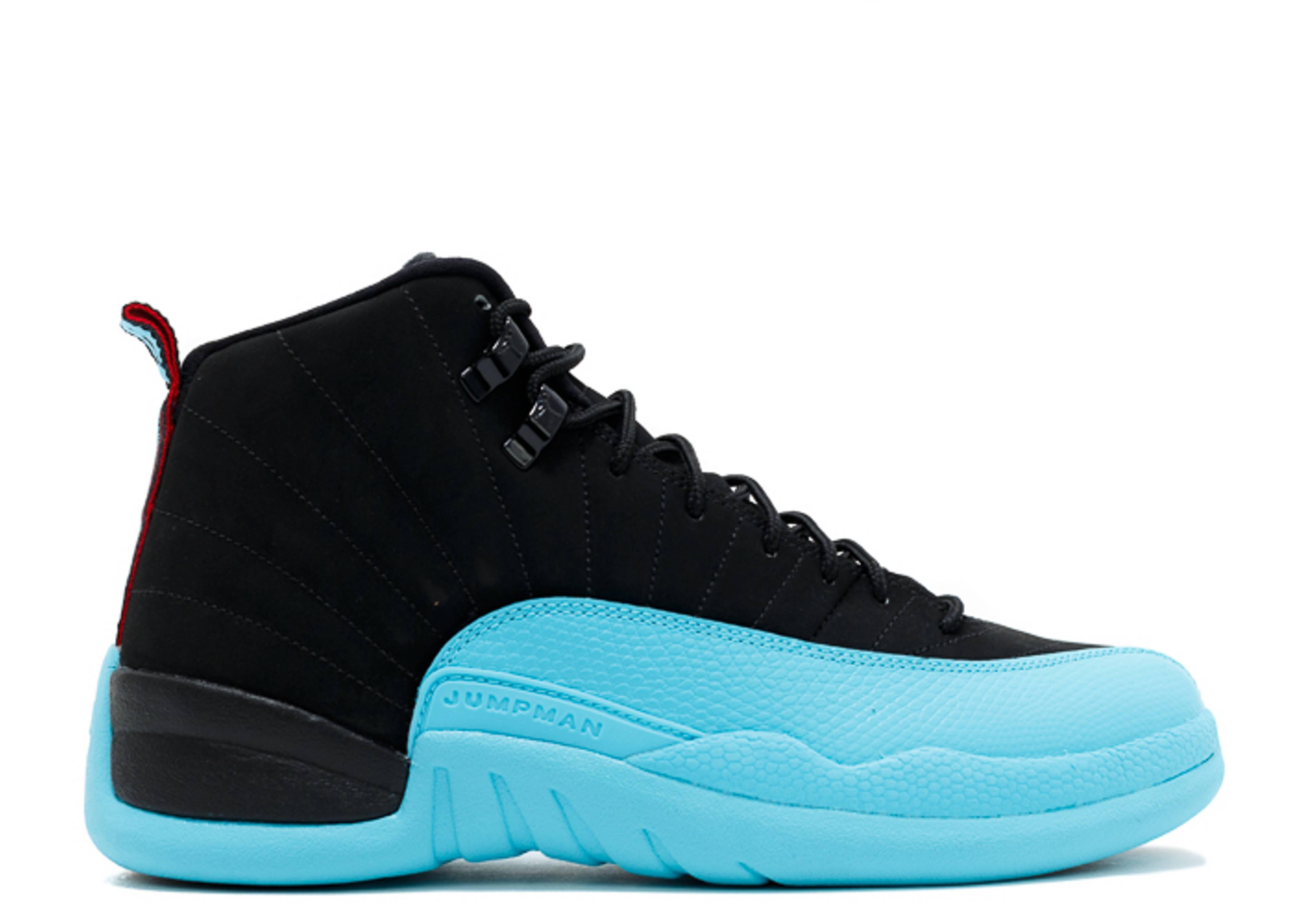 jordan 12 black and blue