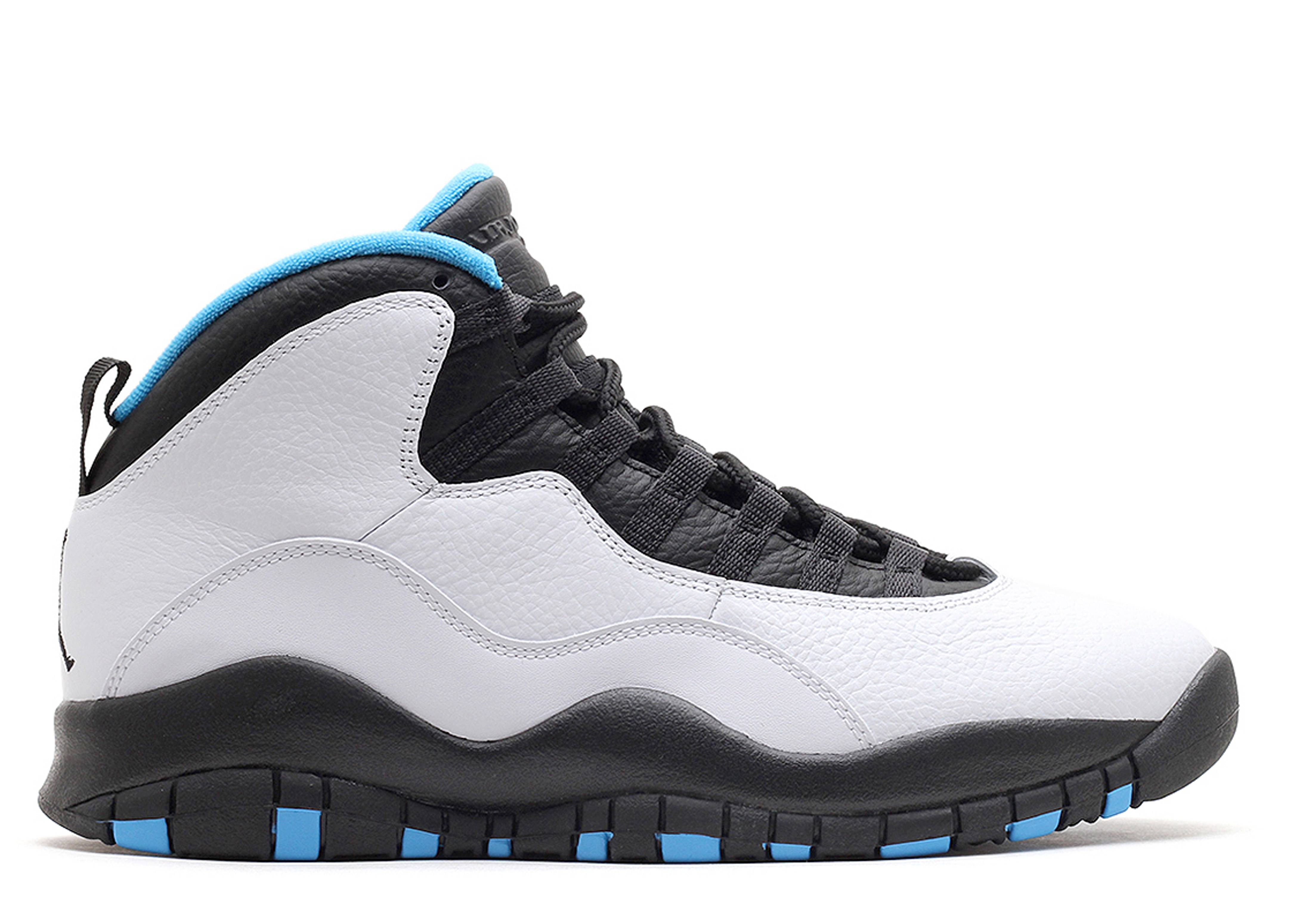 nike air jordan 10 retro white/black