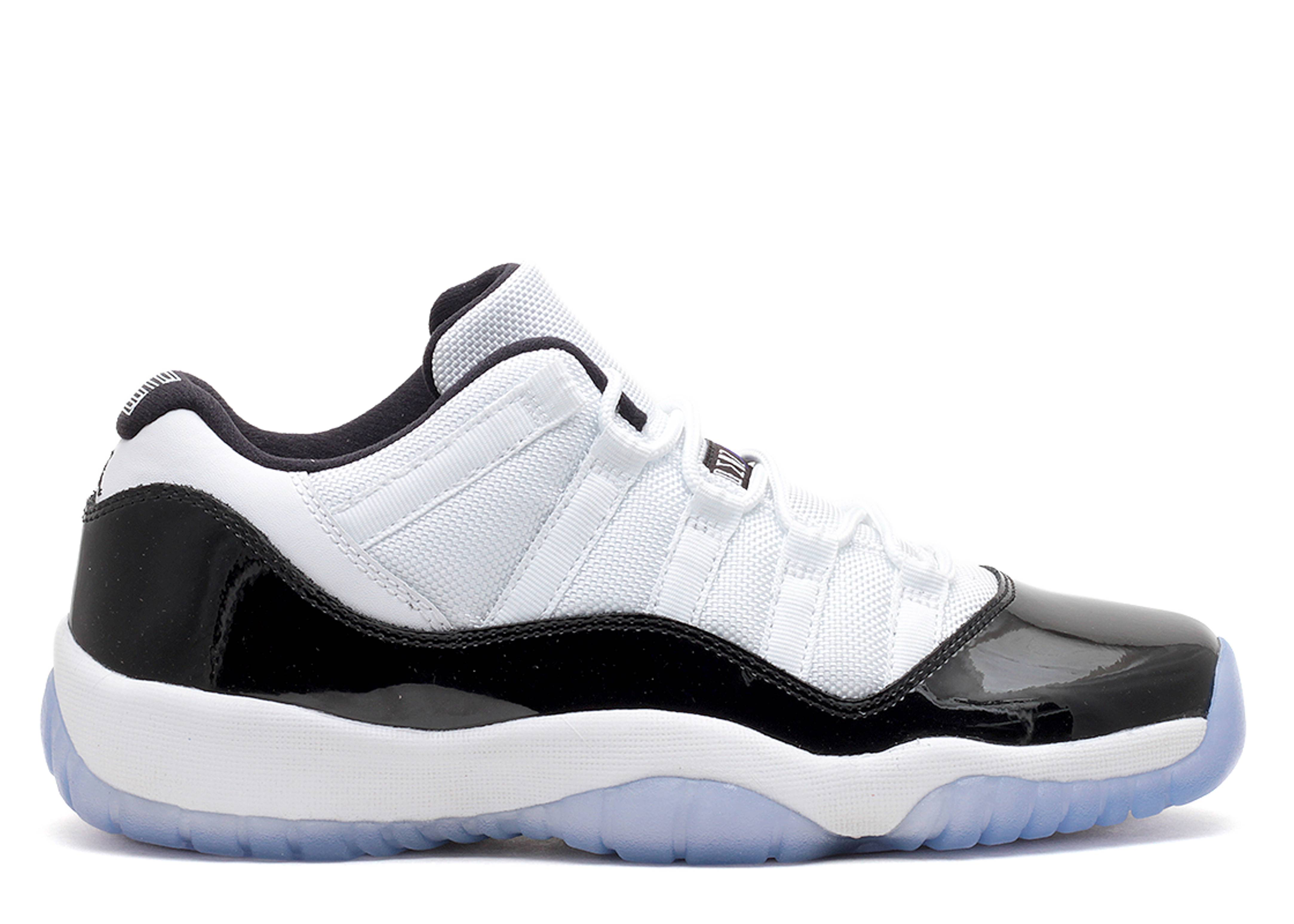 Authentic Air Jordan XI 11 Low White and Black GS