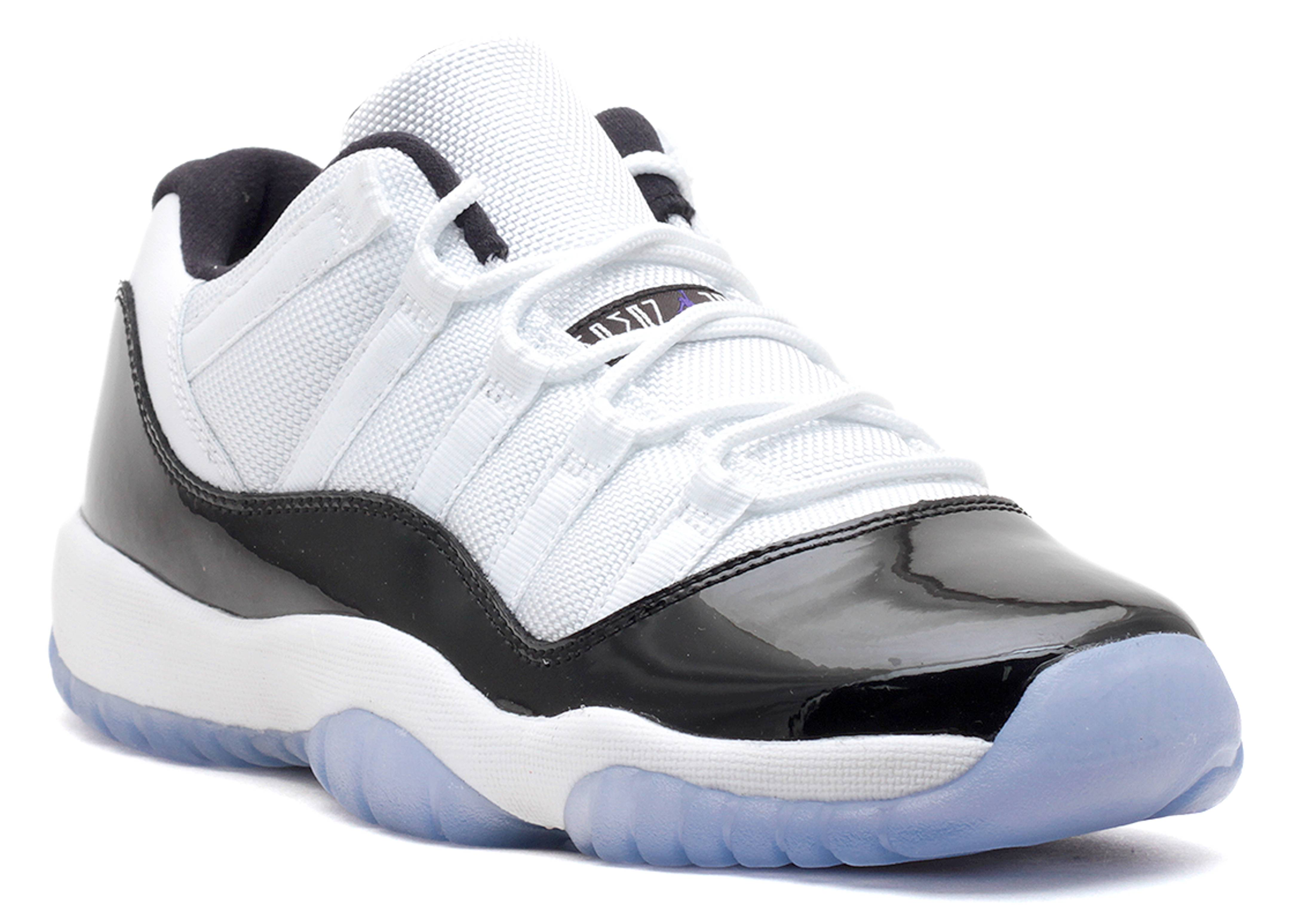 38df9d5ae72 White And Black Jordan 11 Concords