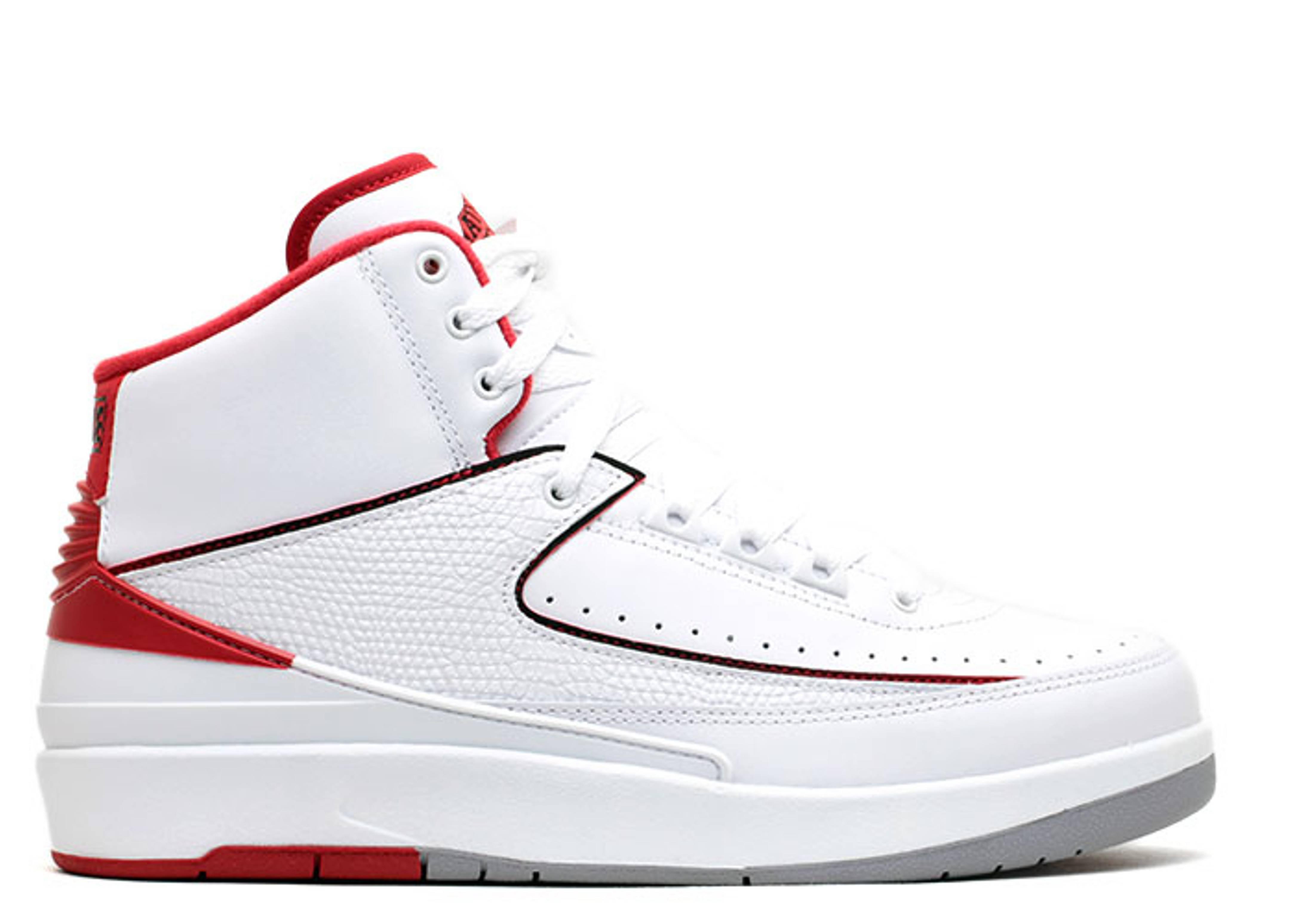 air jordan 2 white black red