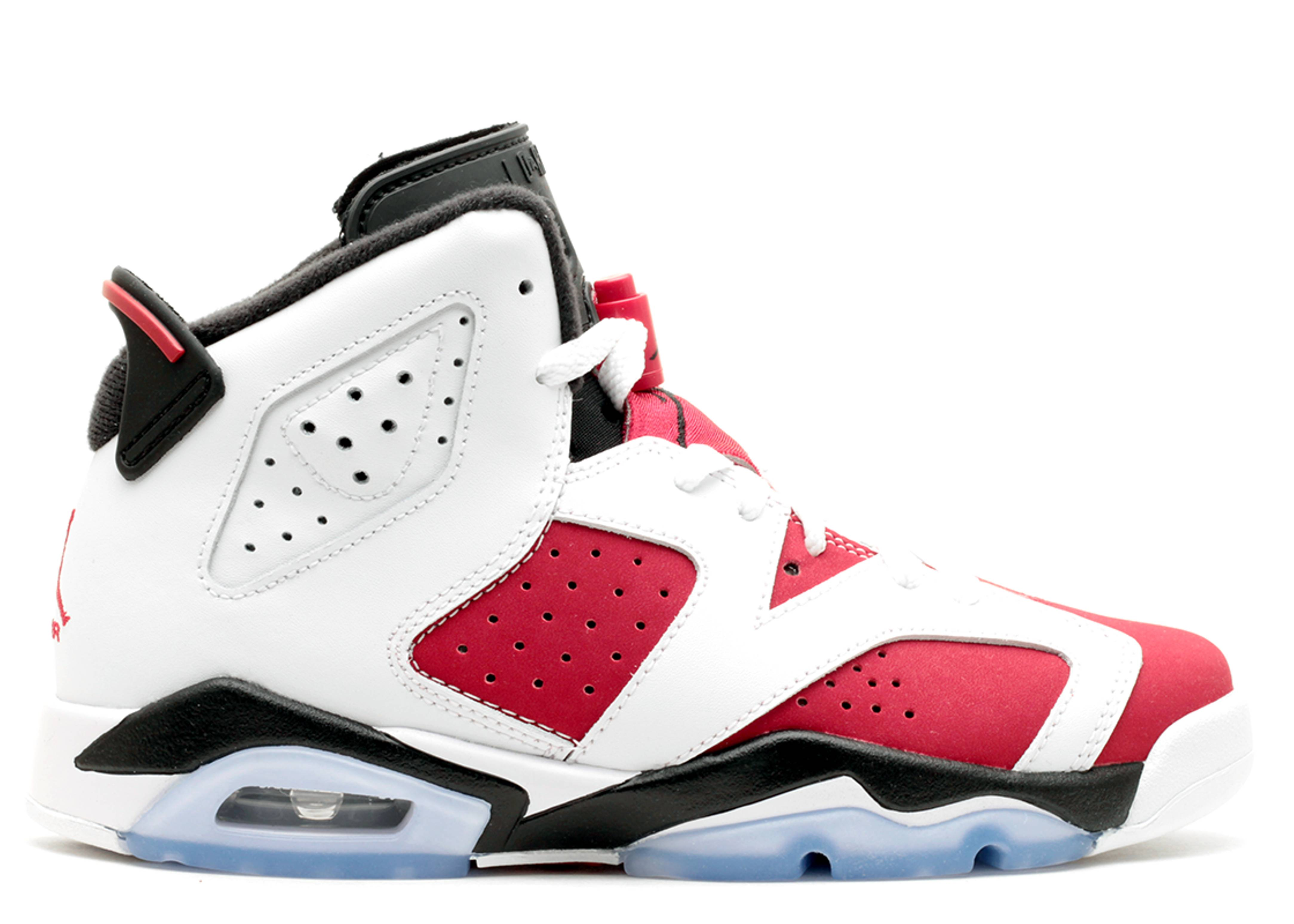 "air jordan 6 retro bg (gs) ""carmine"""