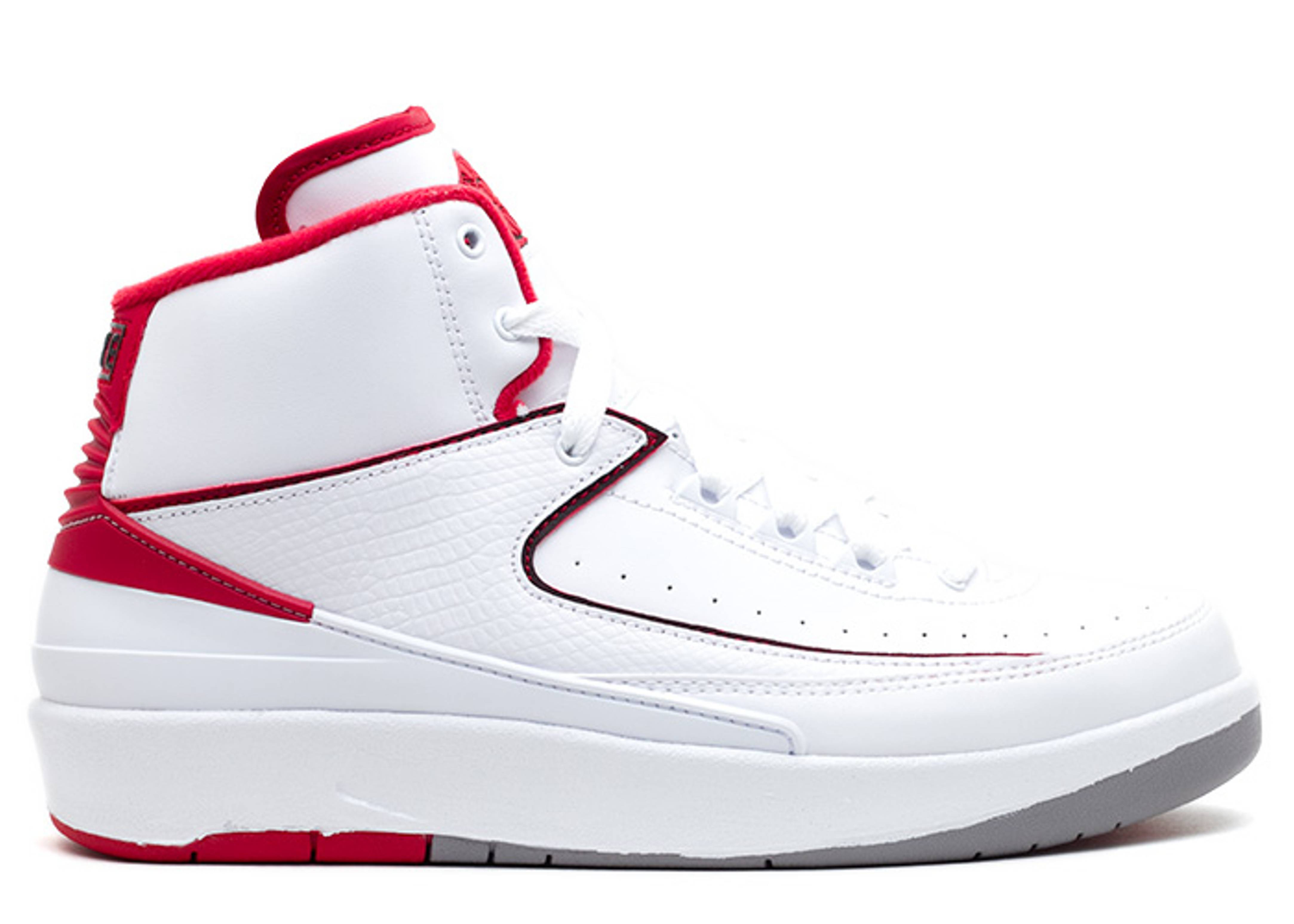 Air Jordan 2 Retro BG White Varsity - 395718 102