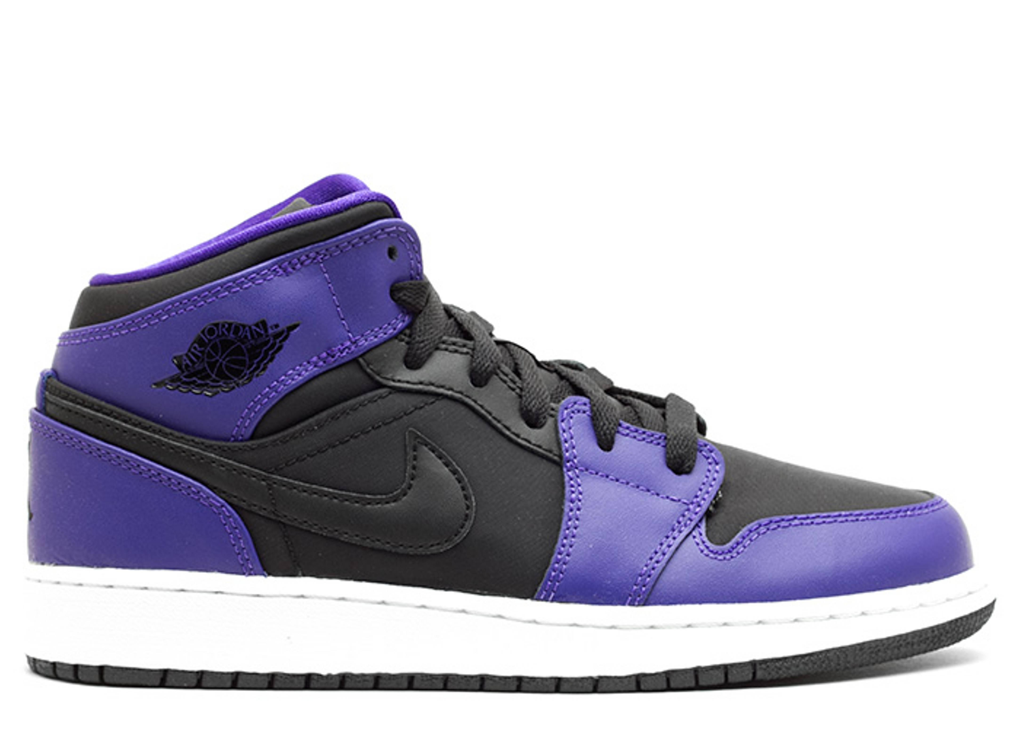 Nike UK Store  Nike Air Jordan 1 Mid Black/Dark Concord Men's Basketball Shoes Size 10.5