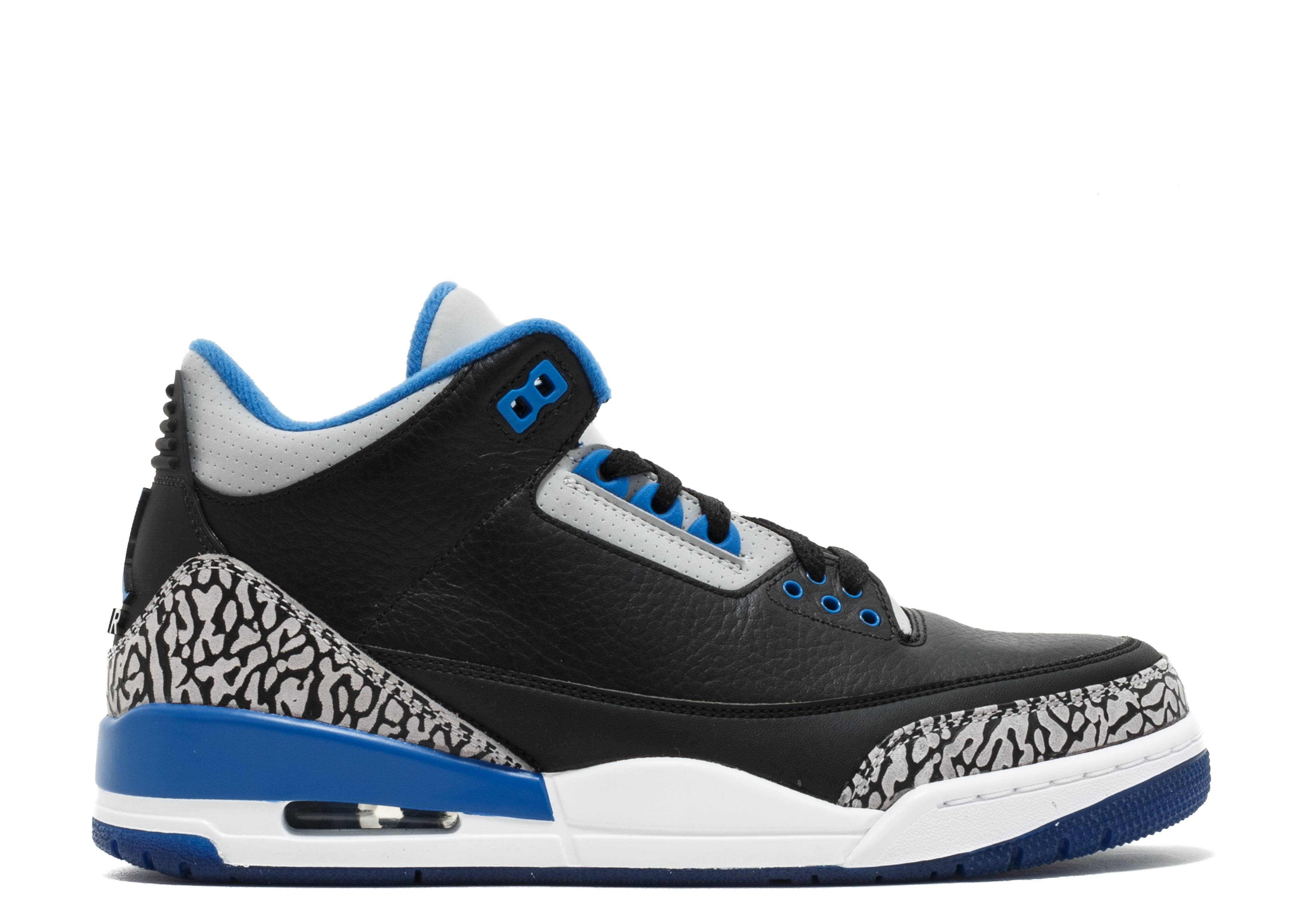 super popular 32466 13ac4 wholesale air jordan 3 retro sport blue air jordan 136064 007 black sport  blue wolf grey
