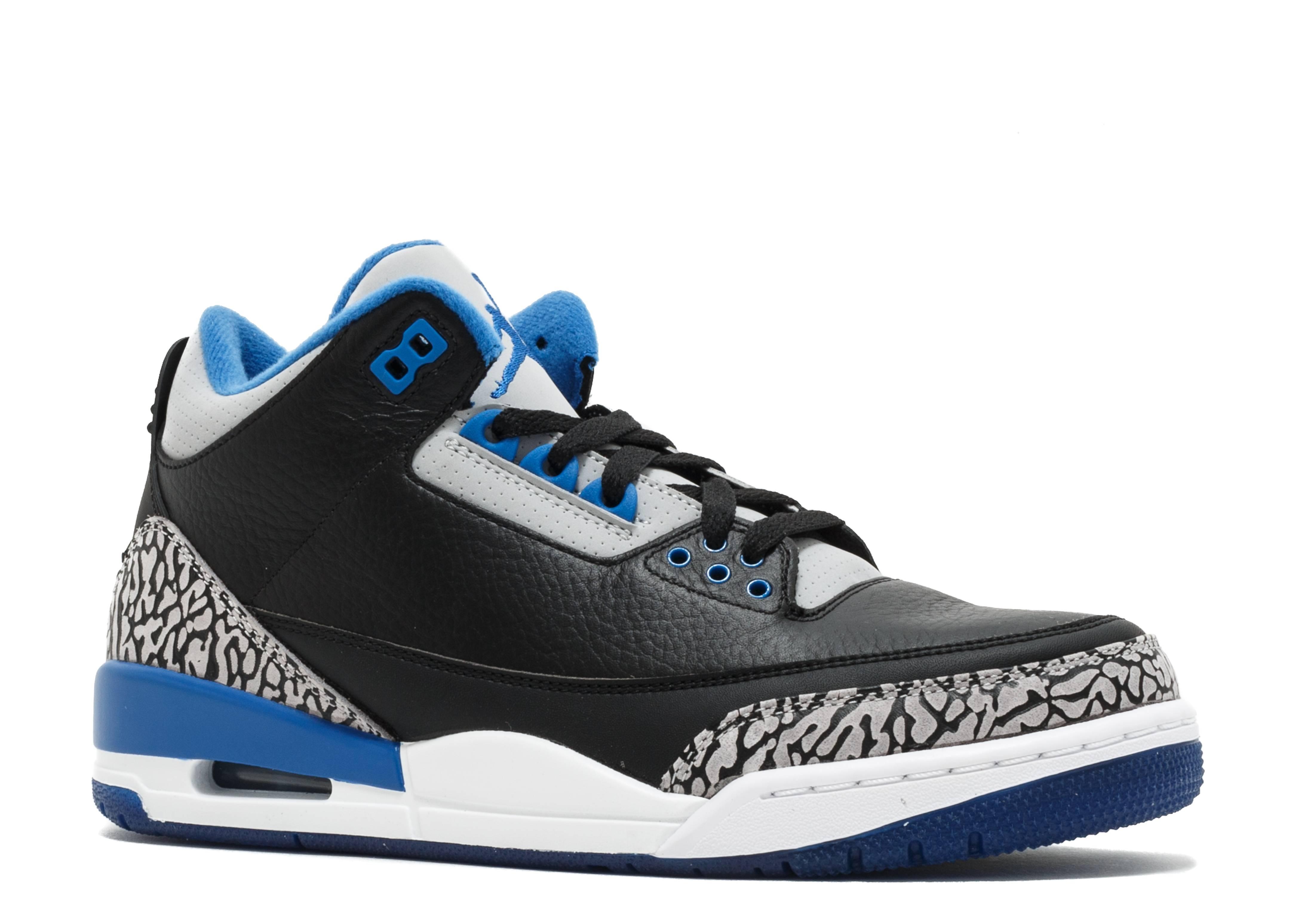 Air Jordan 3 Black Blue