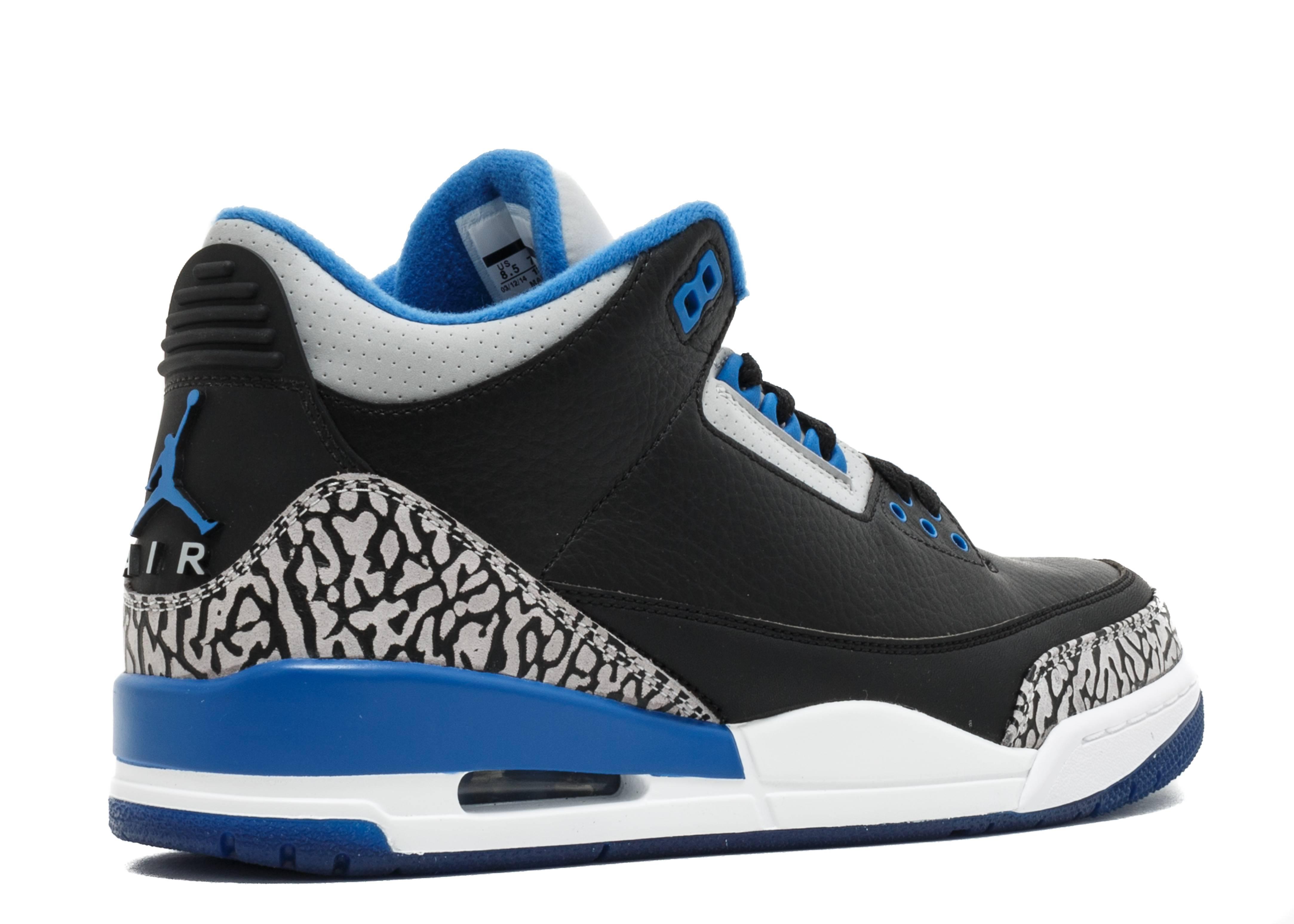 Air Jordan 3 Blue Black