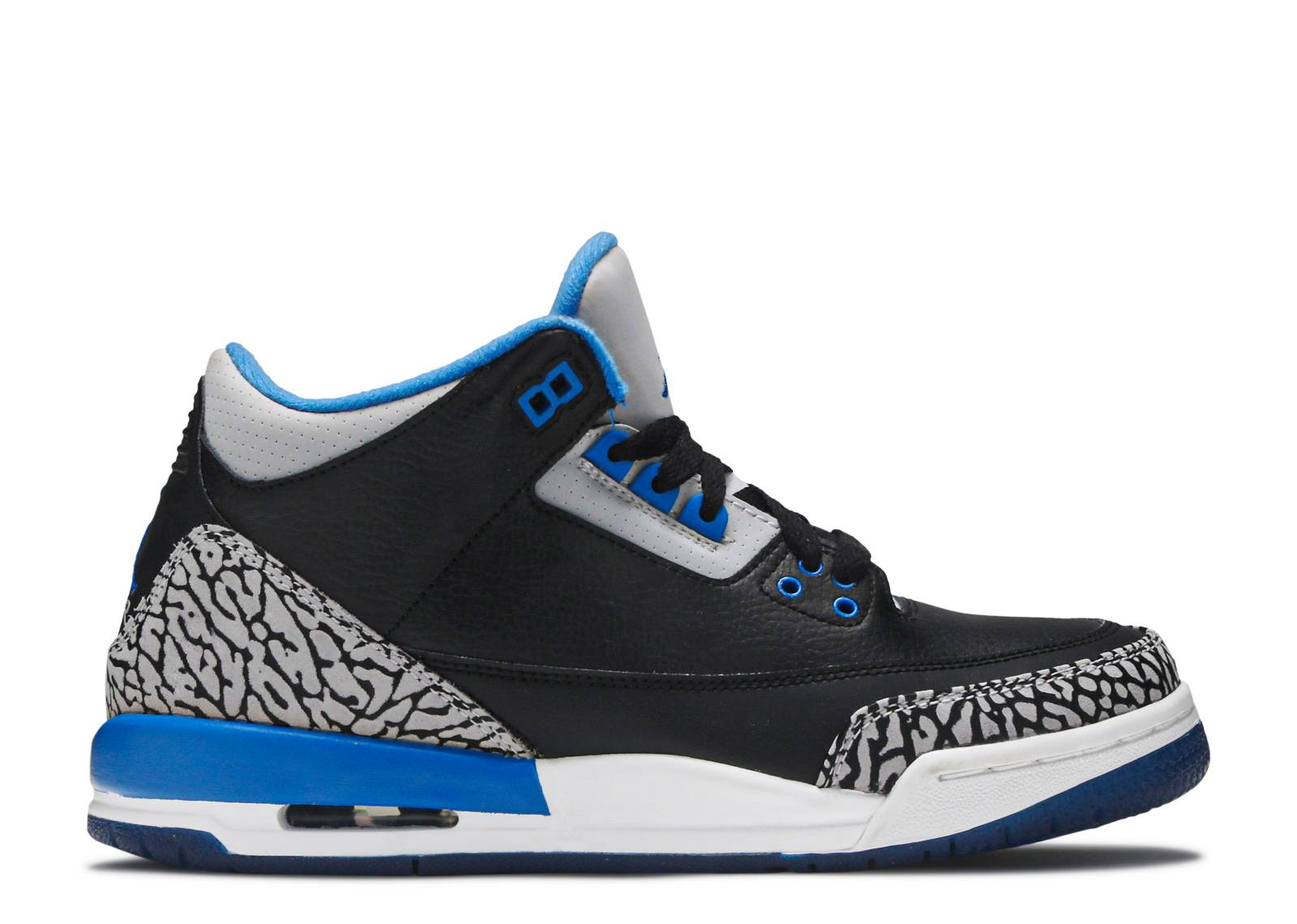 "air jordan 3 retro bg (gs) ""sport blue"""