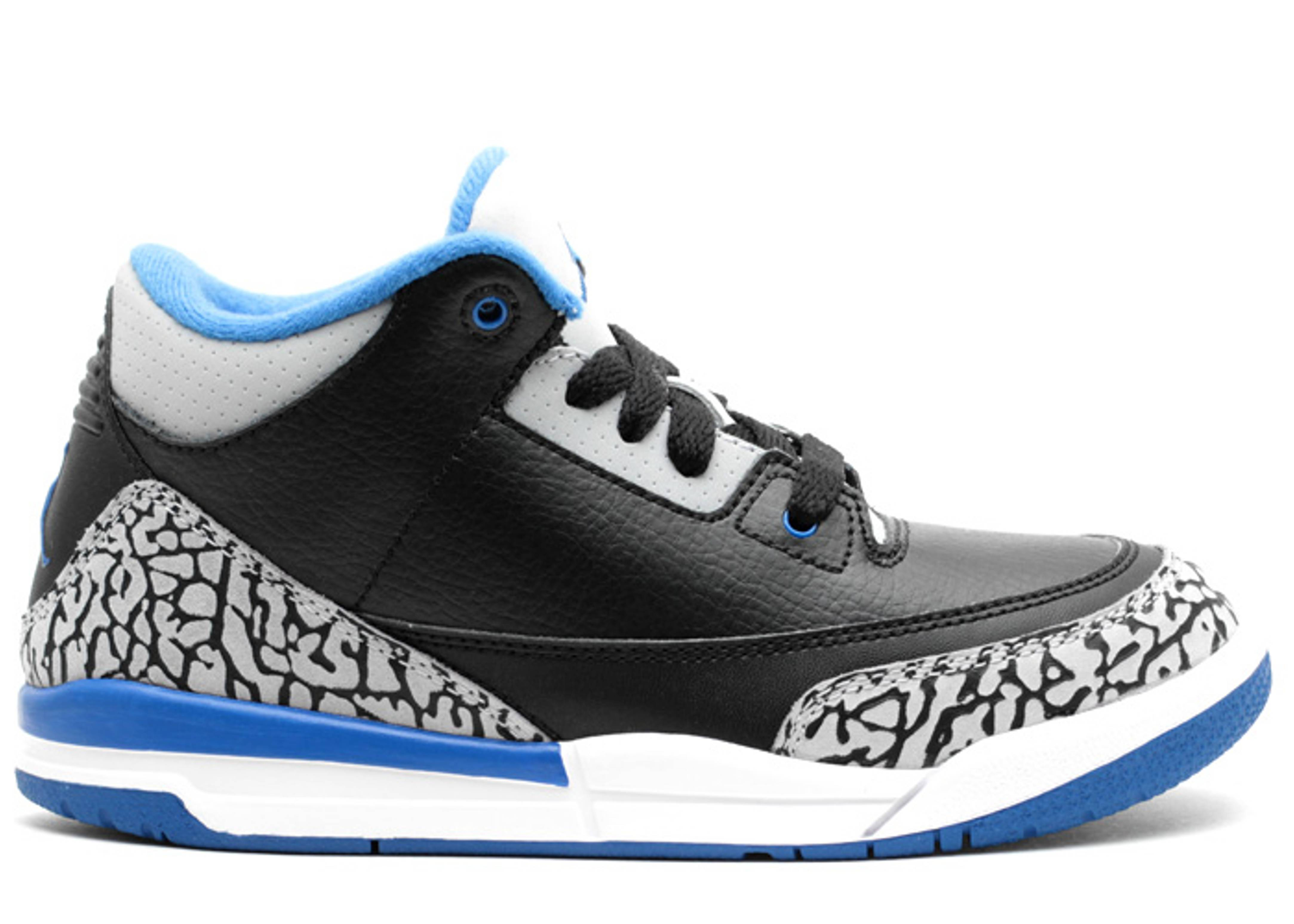 "jordan 3 retro bp (ps) ""sport blue"""