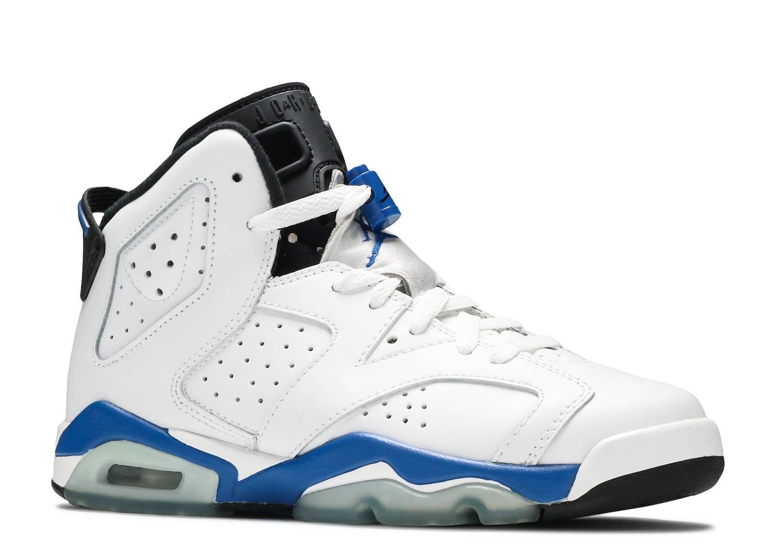 jordan blue and white 6