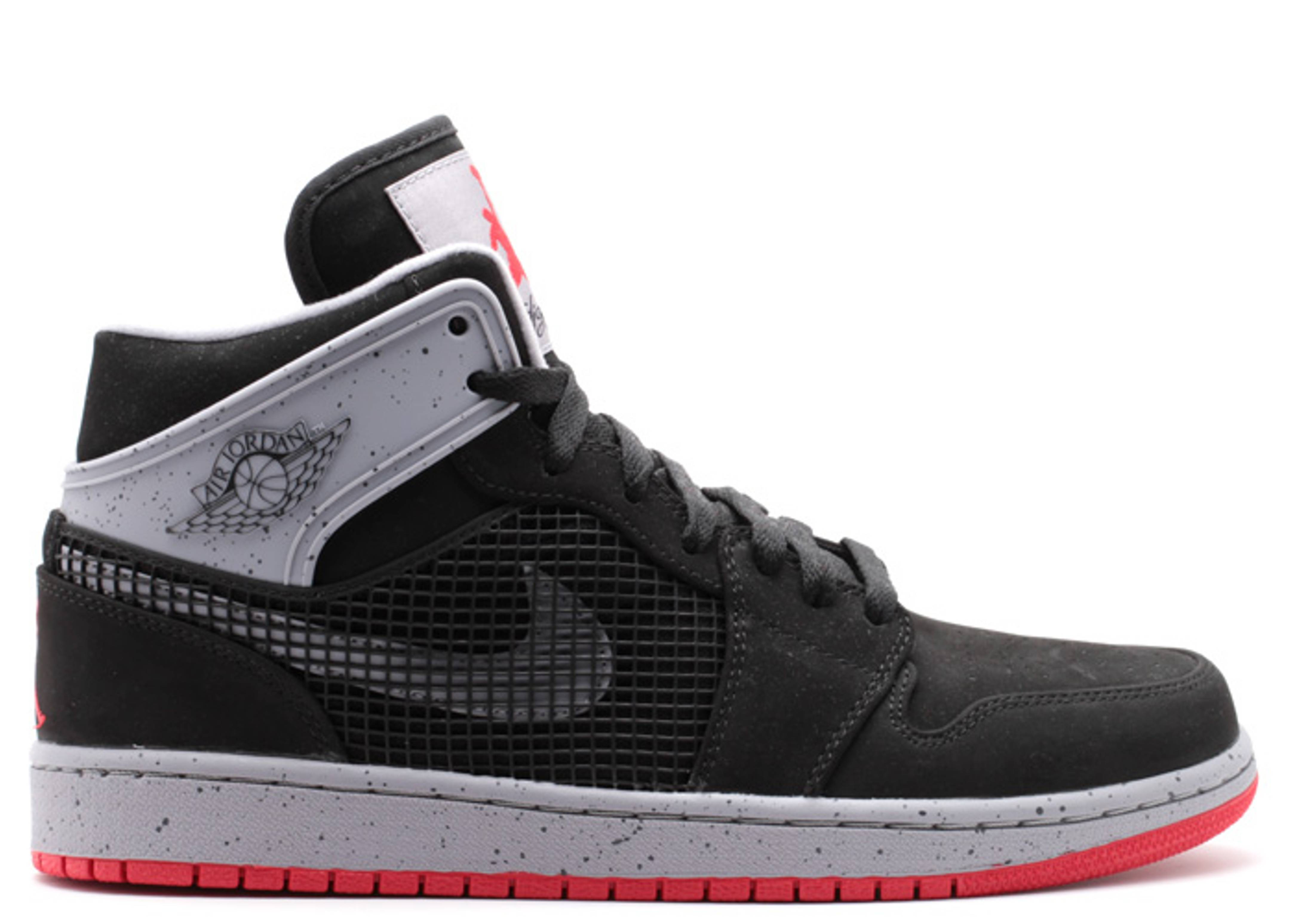 c6a16366319 Air Jordan 1 Retro 89 - Air Jordan - 599873 003 - black fire red-cement  grey