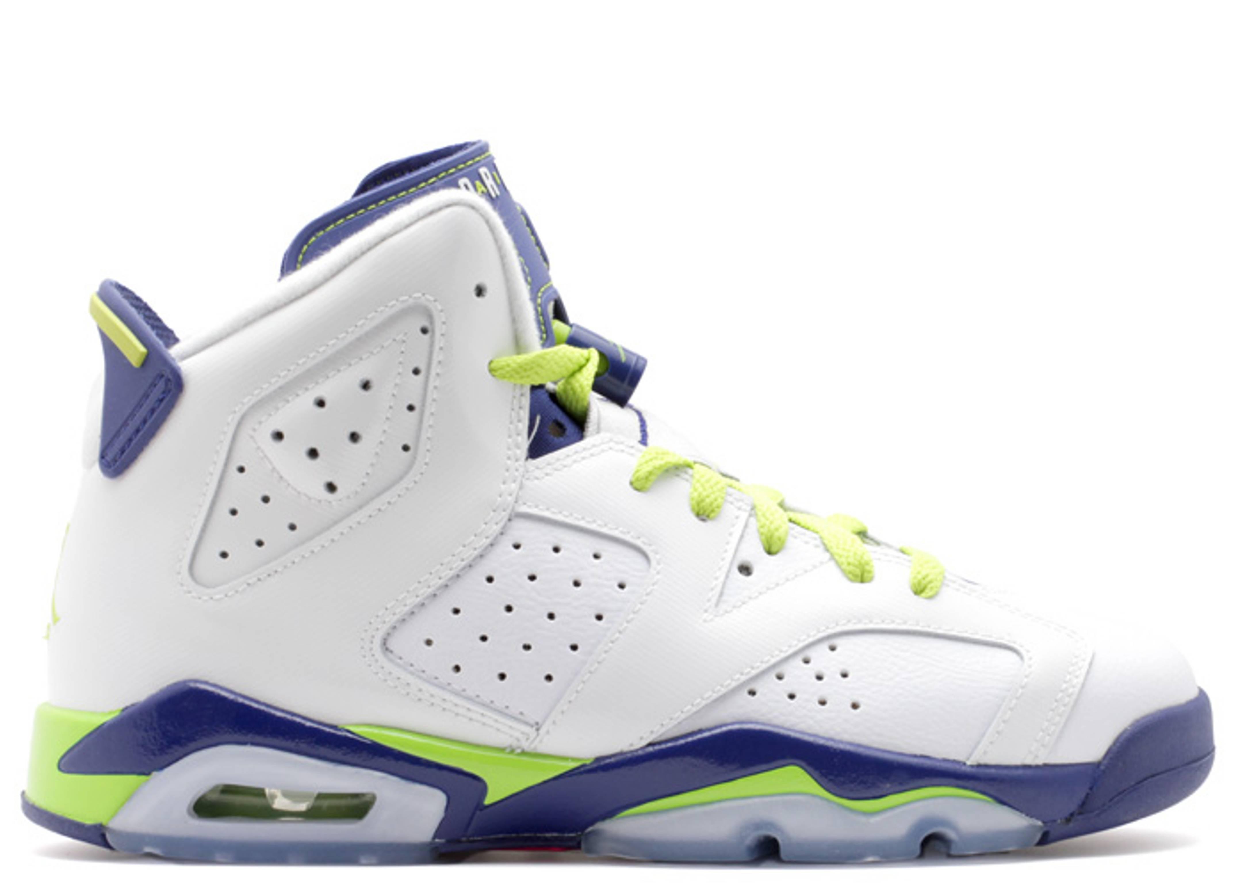 "air jordan 6 retro gg (gs) ""fierce green"""