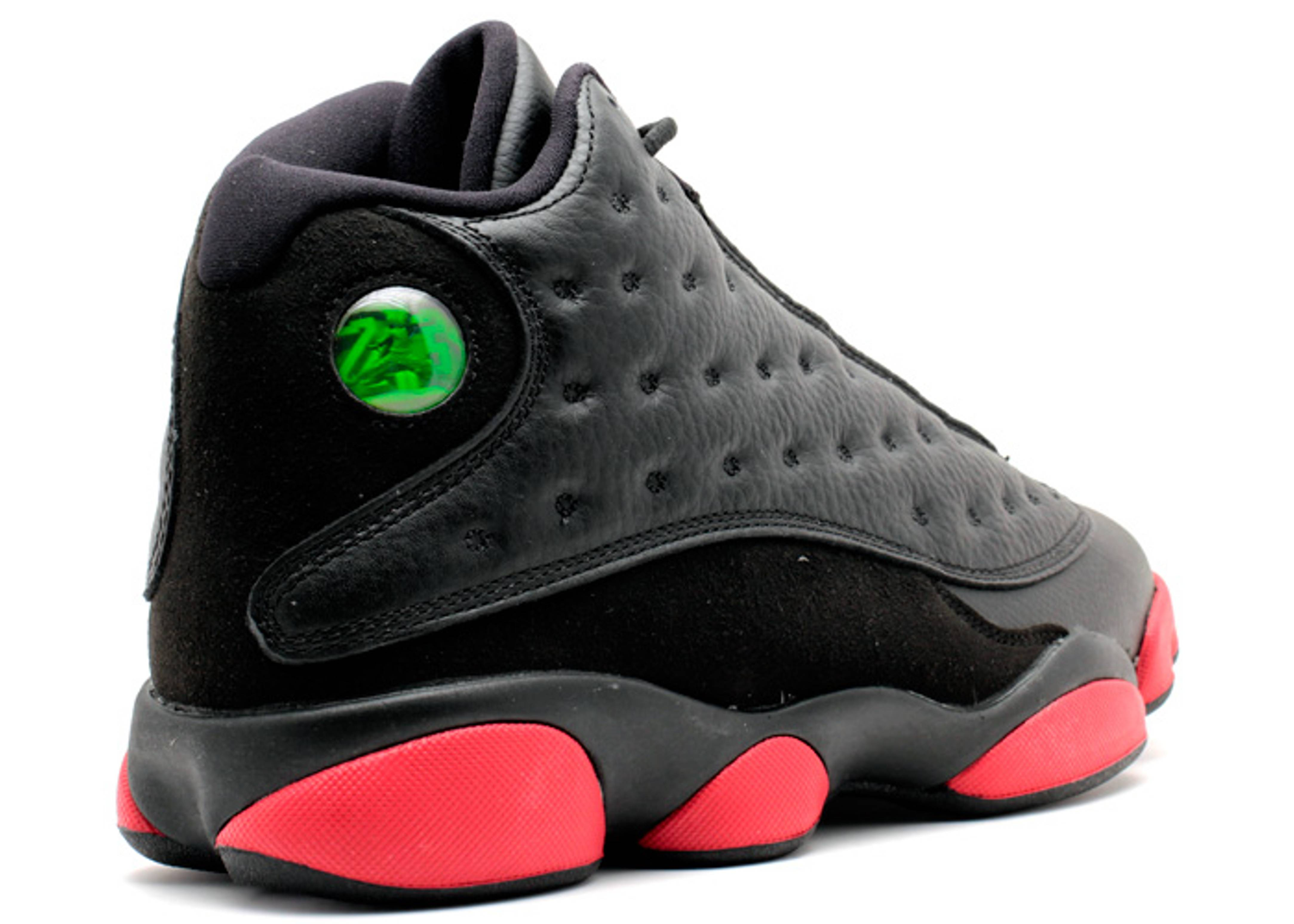 air jordan 13 black and red