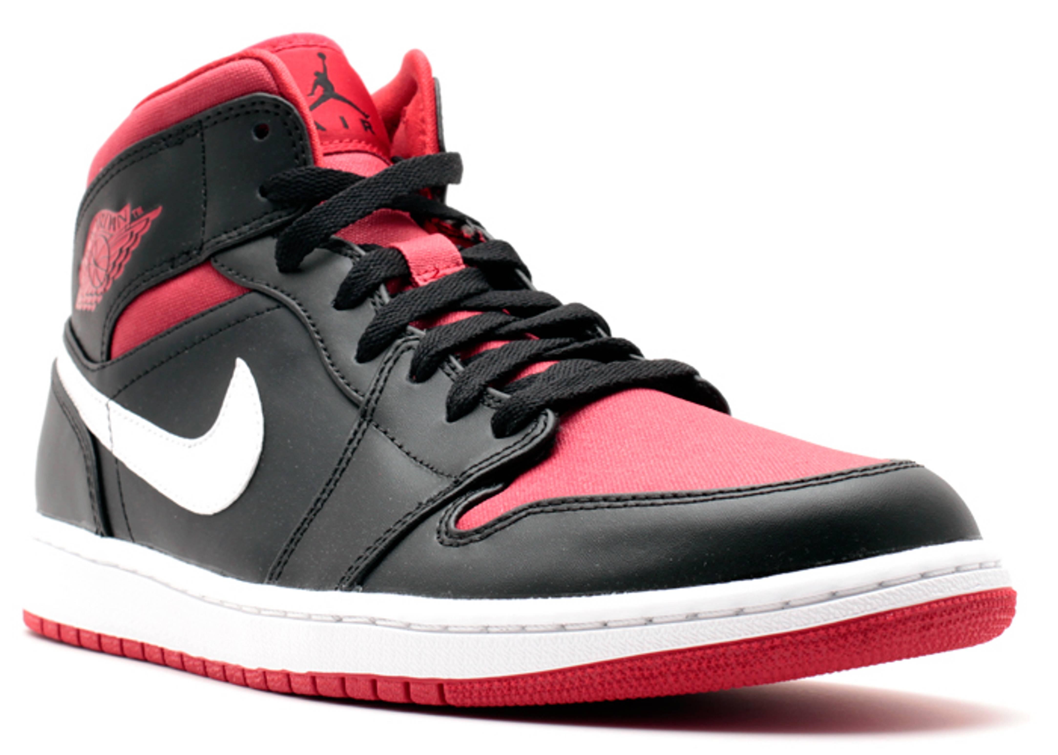 536e5fac99d Air Jordan 1 Mid - Air Jordan - 554724 020 - black.gym red-white ...