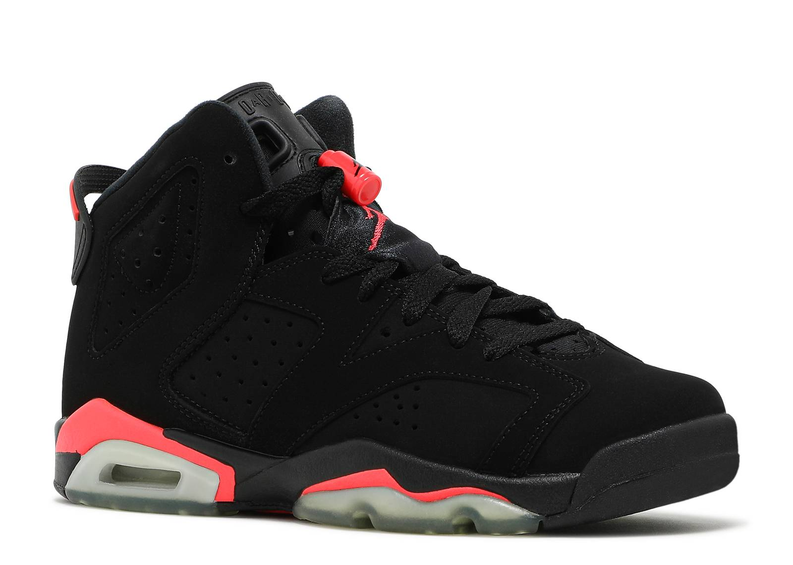 Nike BG GS Air Jordan 6 Black Infrared Trainer Size 3 UK
