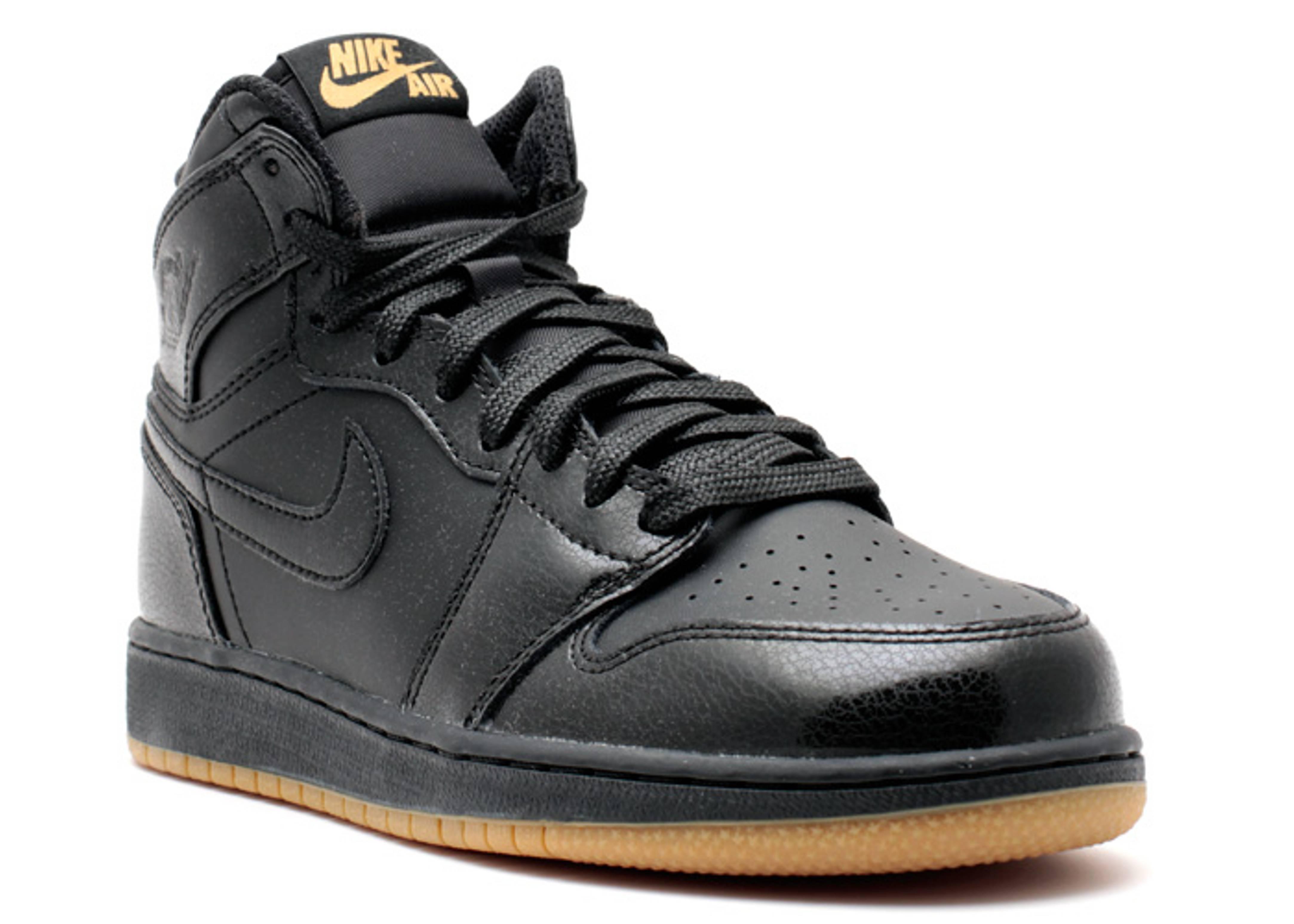 69ff65de0b9ea4 Air Jordan 1 Retro Bg (gs) - Air Jordan - 575441 020 - black black-gum  light brown
