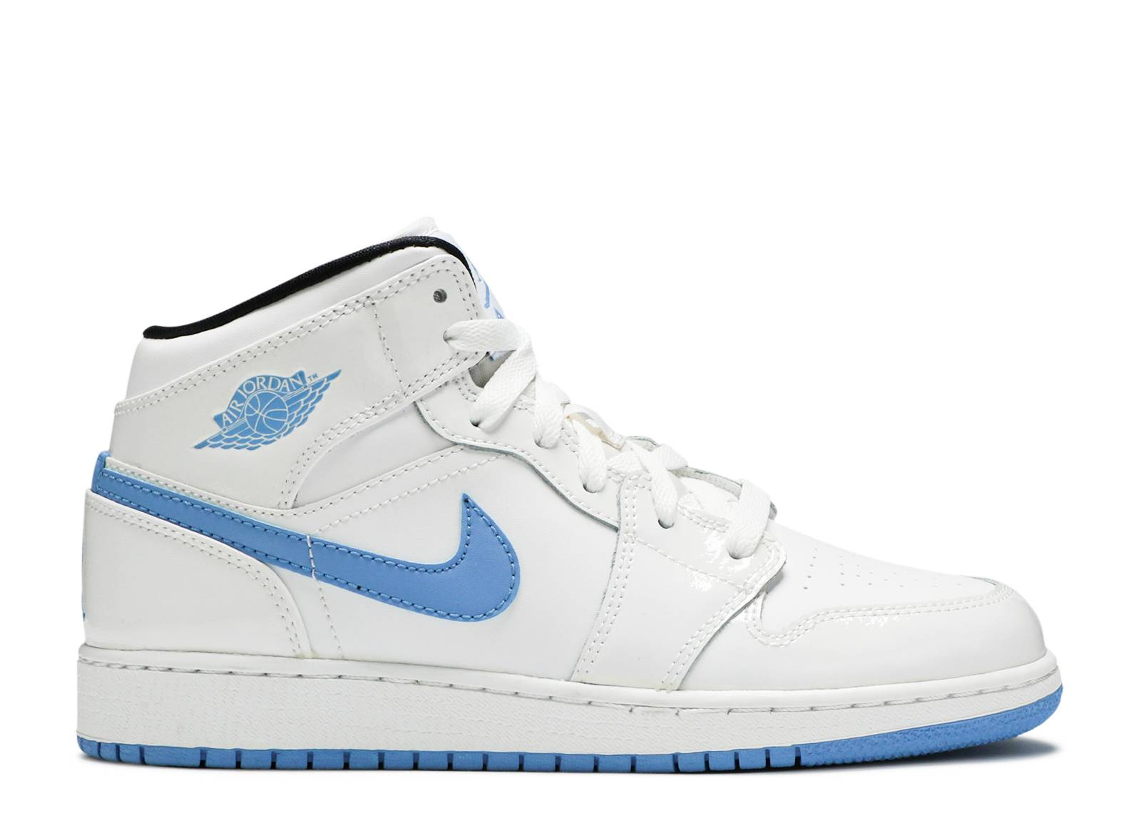 "air jordan 1 mid bg (gs) ""legend blue"""