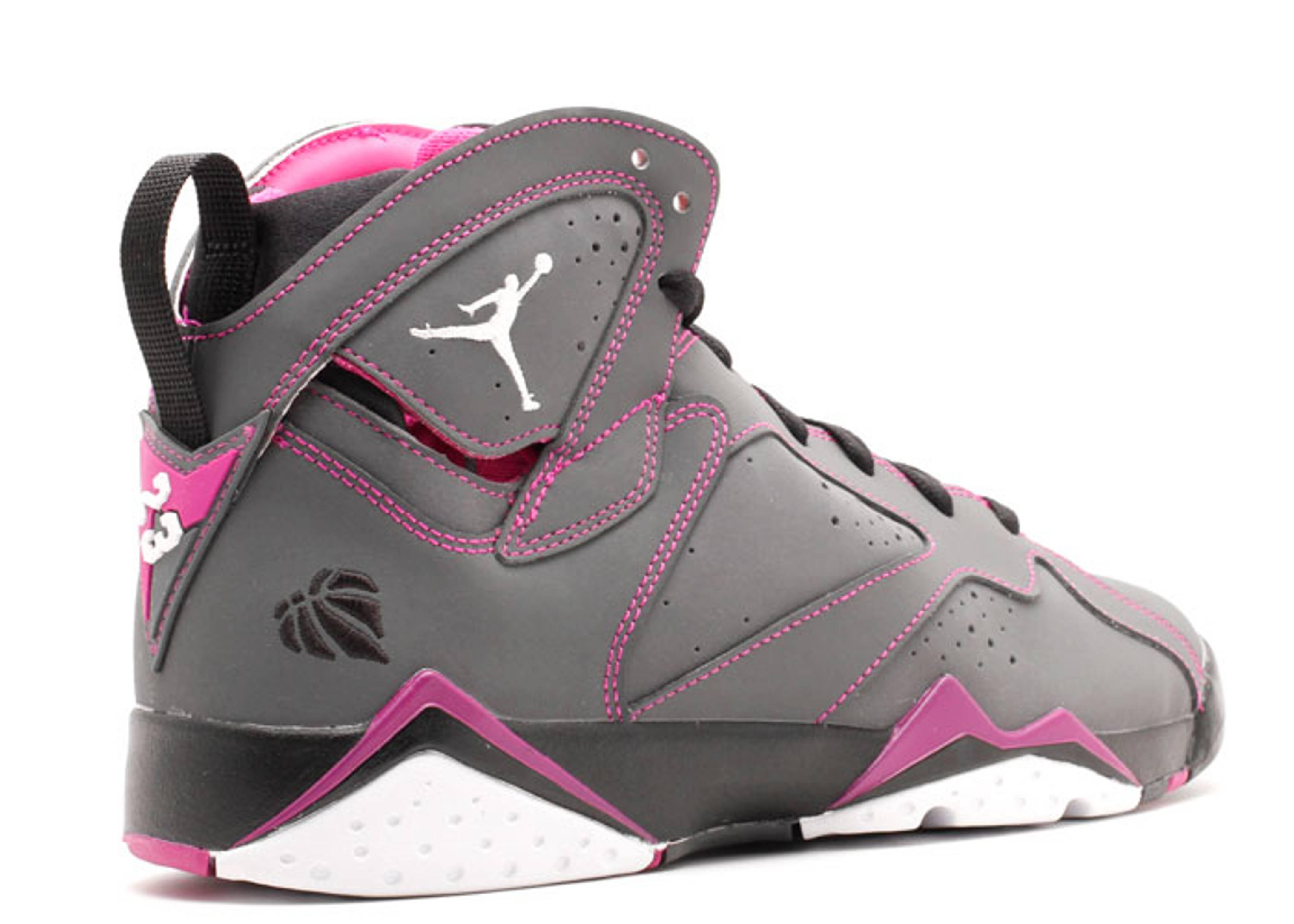Air Jordan 7 Retro 30th Gg Dark Greywhite Blck Fchs Flsh